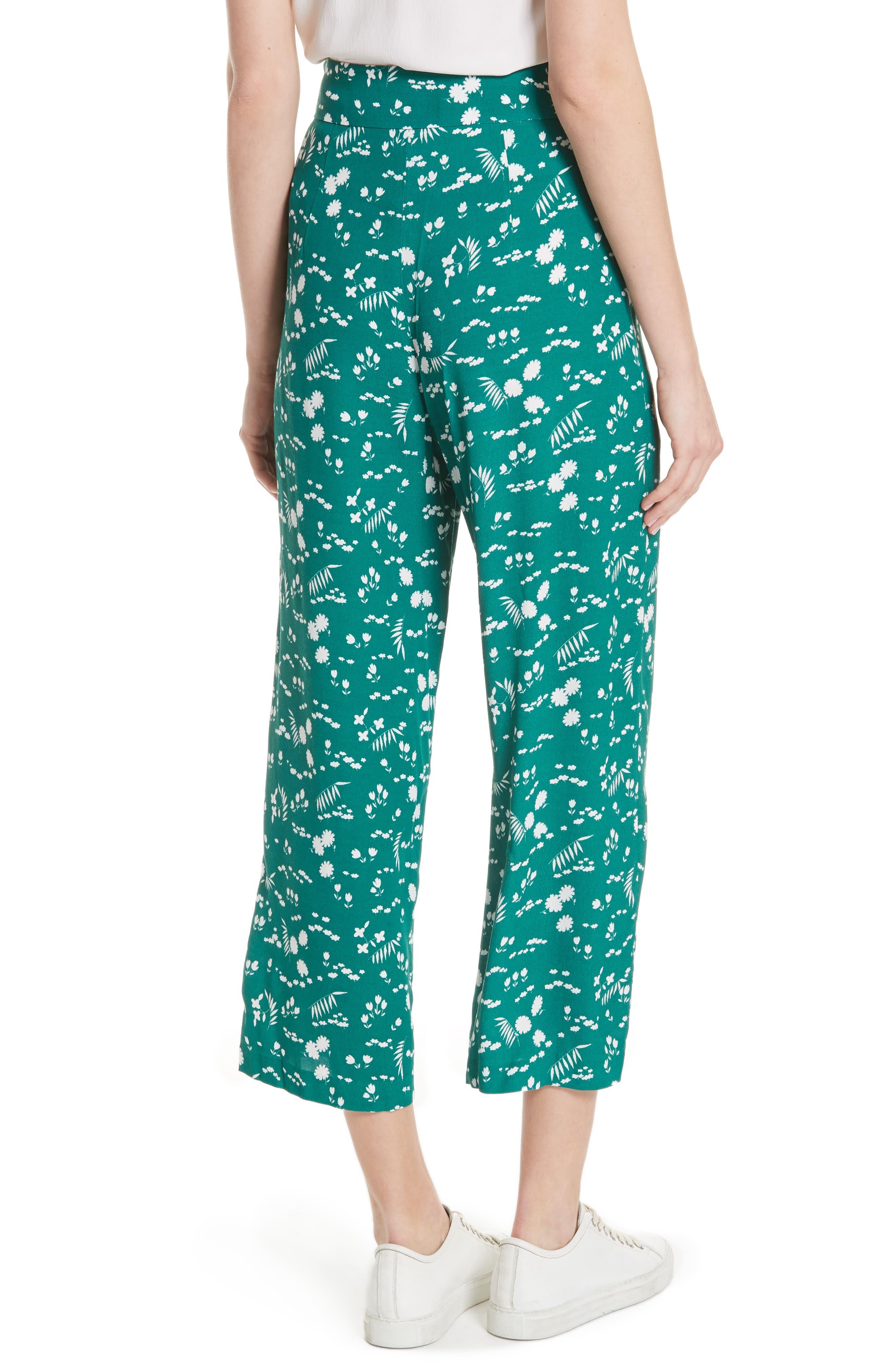 Floral Print Crop Pants,                             Alternate thumbnail 2, color,                             Imprime