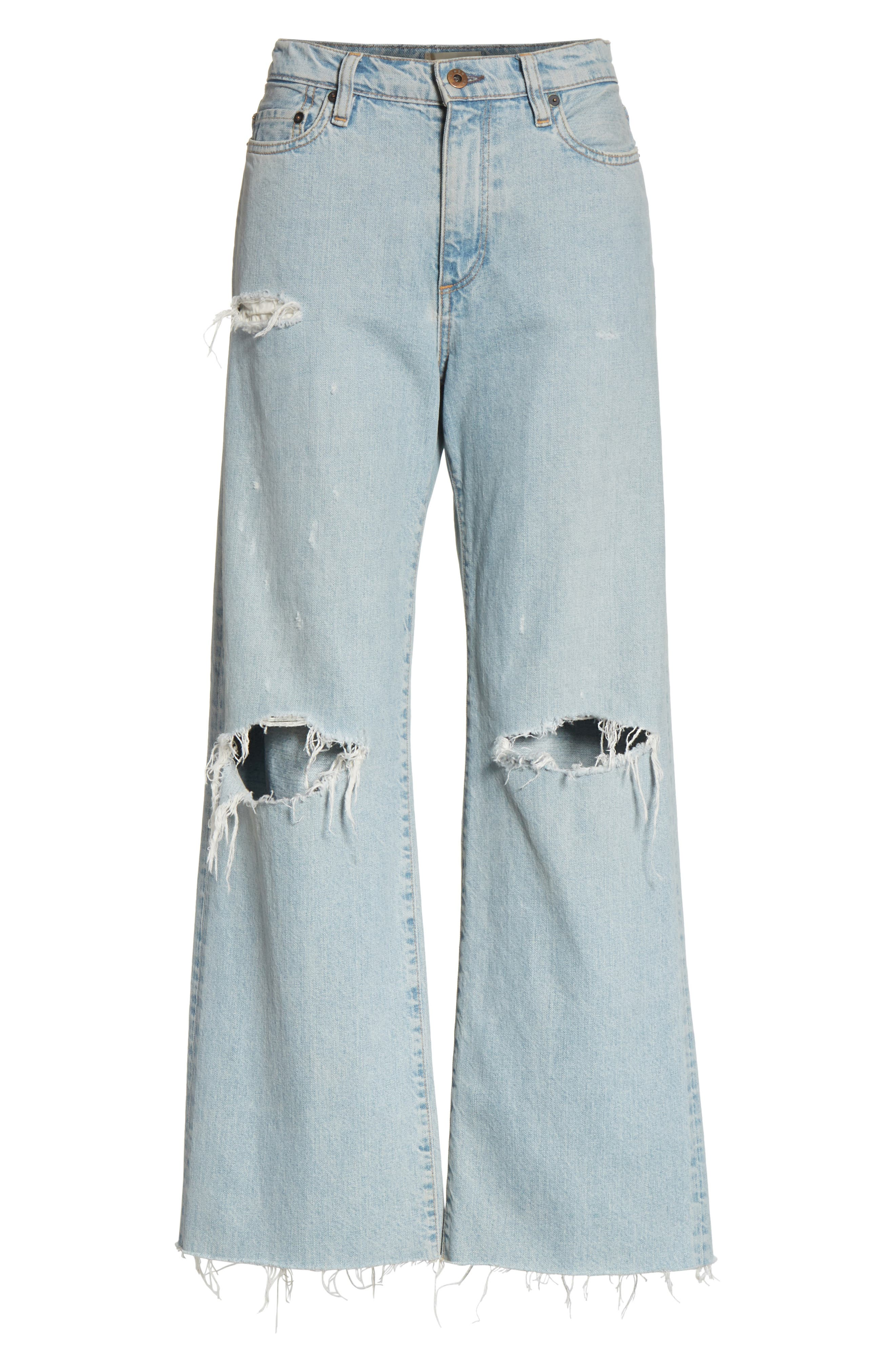 Tibbee Ripped Jeans,                             Alternate thumbnail 7, color,                             Light Indigo