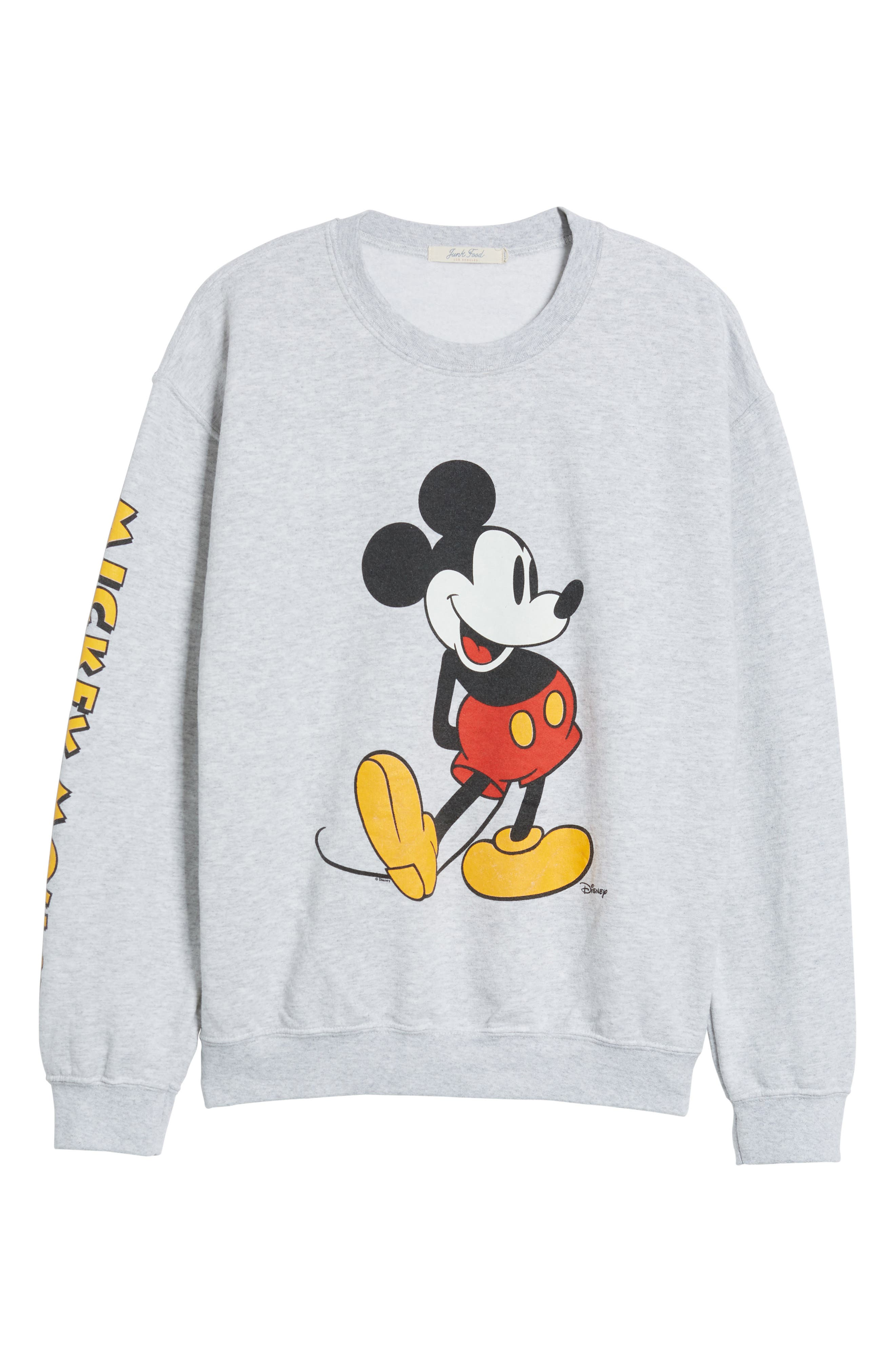 Mickey Mouse Oversize Sweatshirt,                             Alternate thumbnail 7, color,                             Ash Heather
