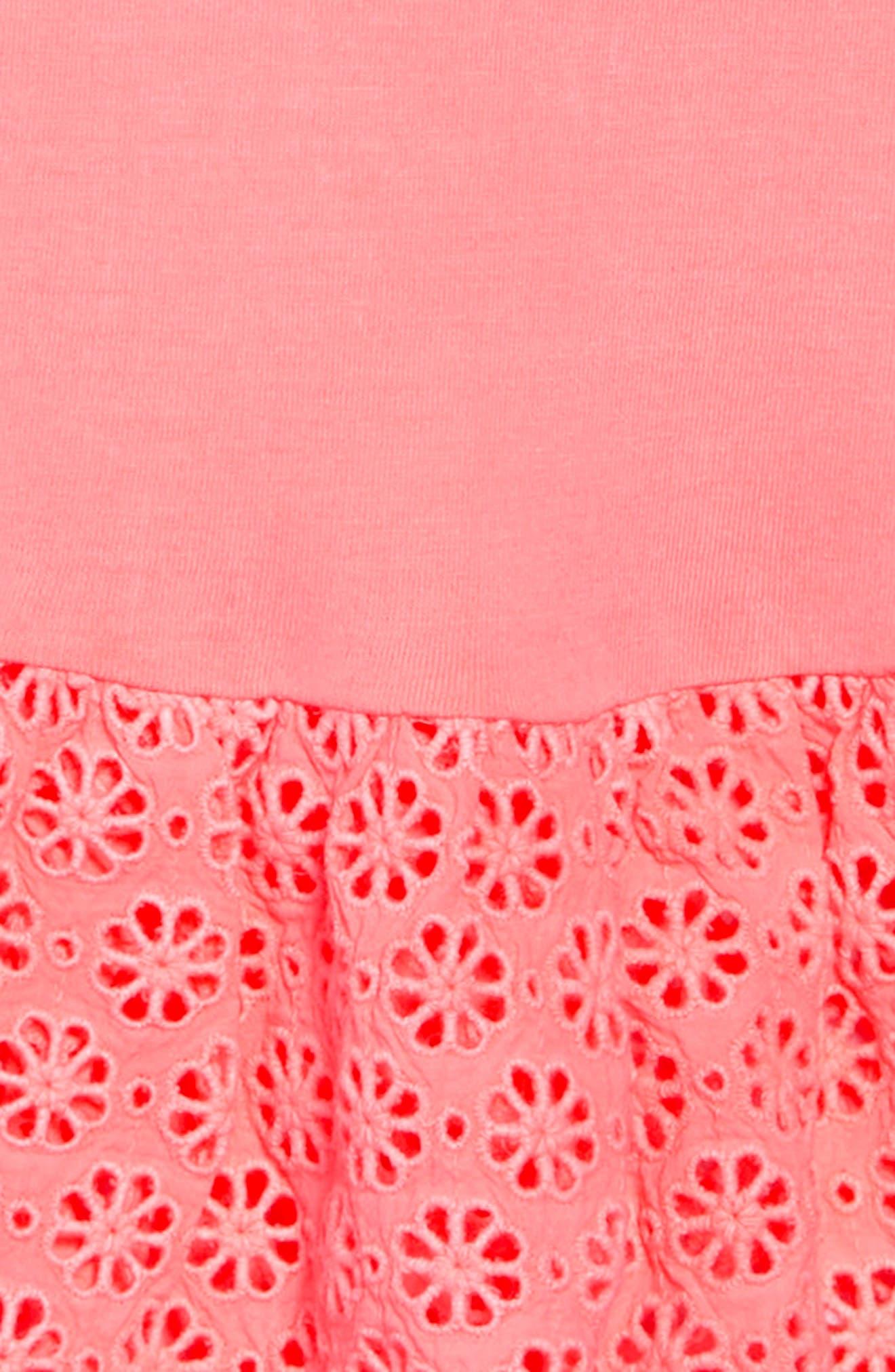 Ashley Dress,                             Alternate thumbnail 3, color,                             Neon Coral