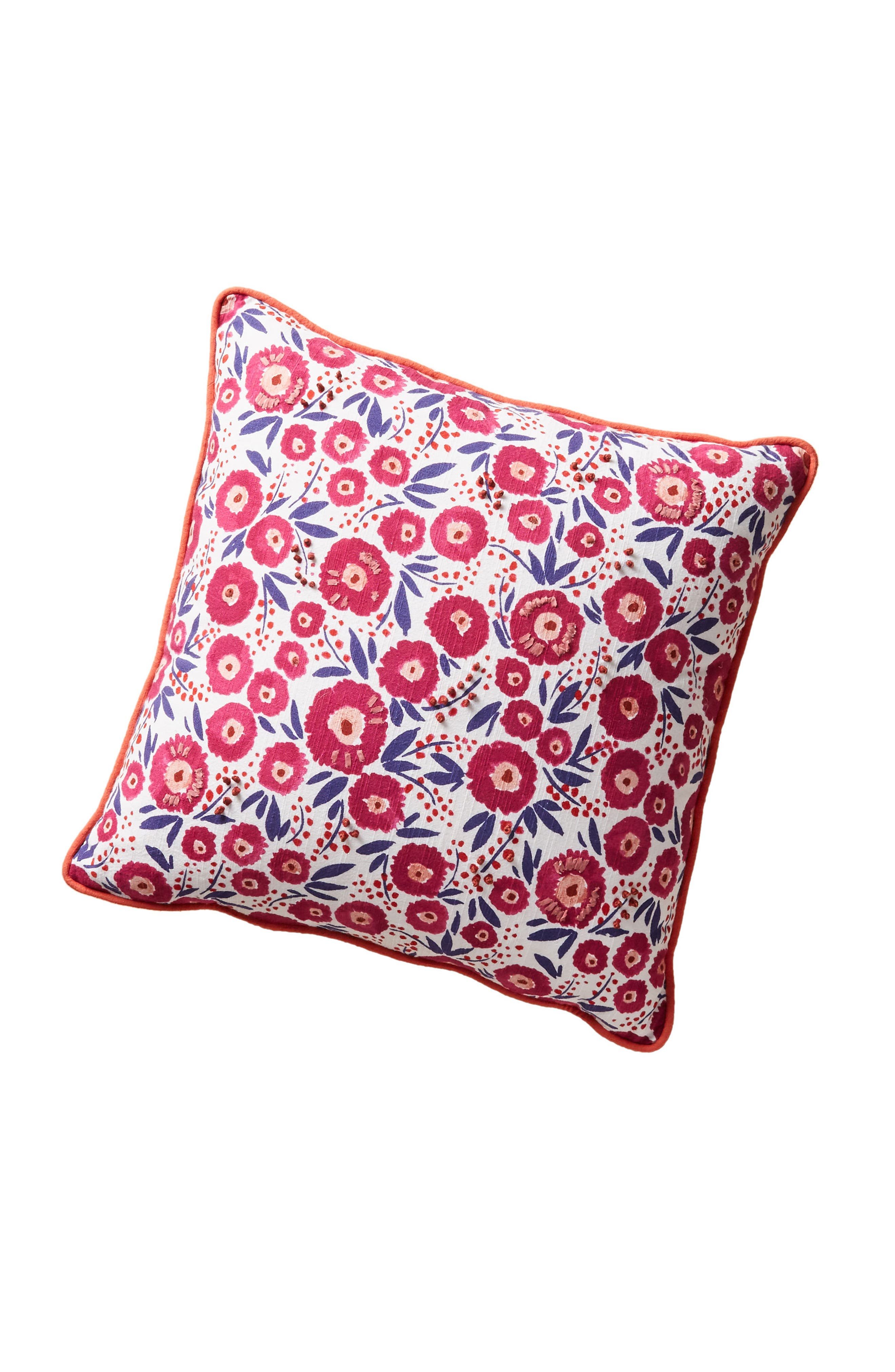 Painted Poppies Accent Pillow,                             Alternate thumbnail 5, color,                             Raspberry