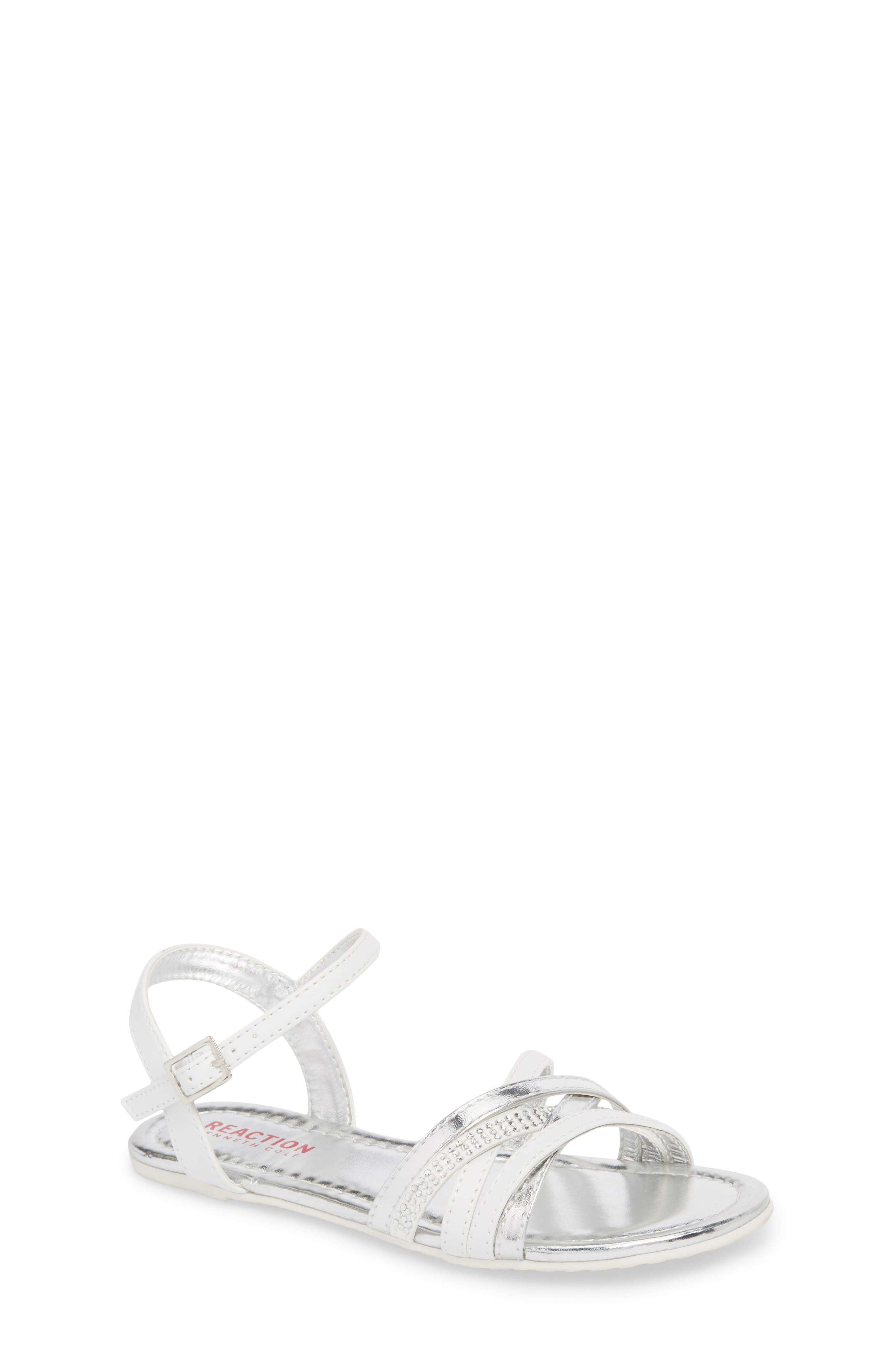 Kiera Getty Crystal Sandal,                             Main thumbnail 1, color,                             White
