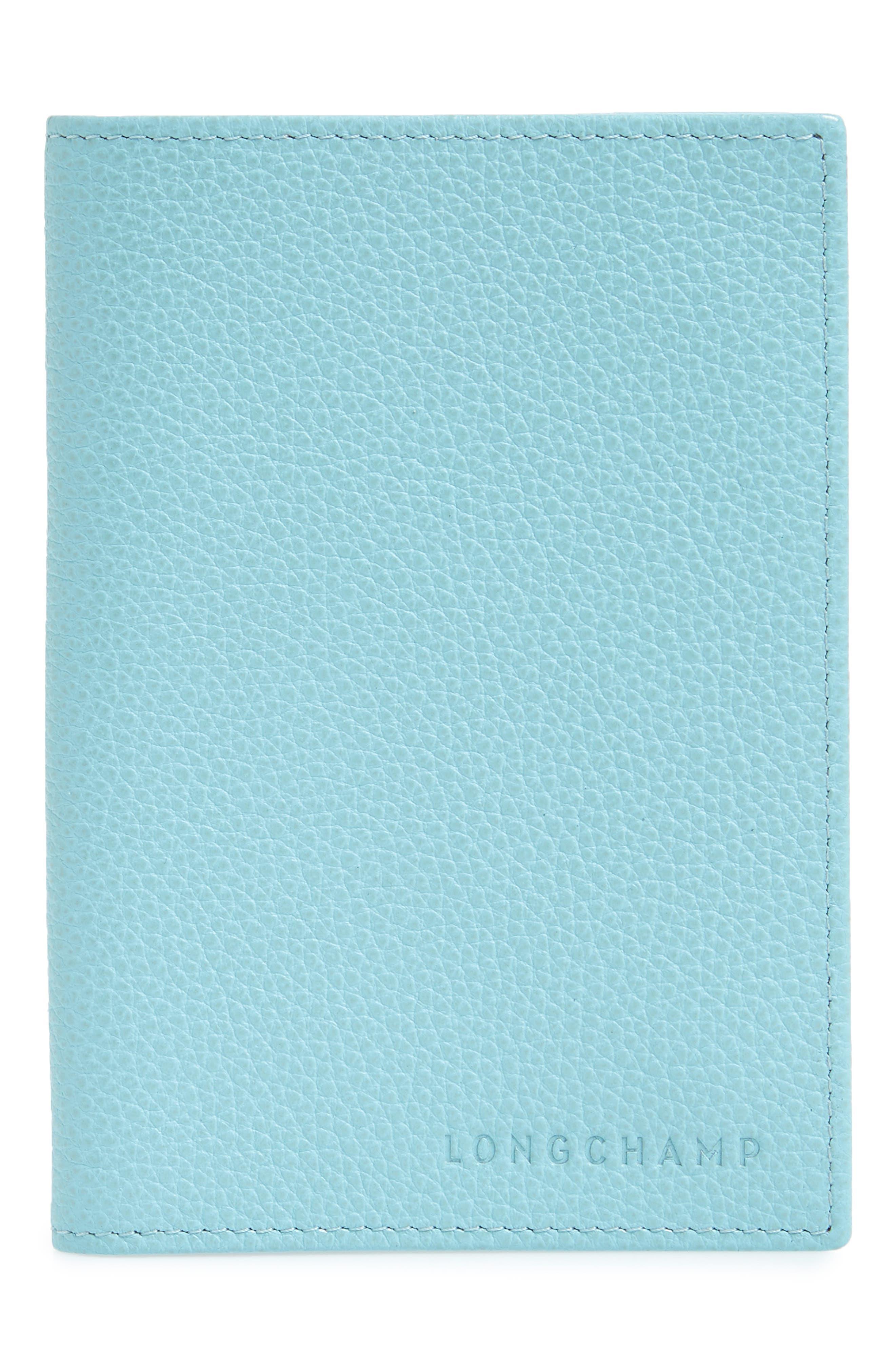 Longchamp Calfskin Leather Passport Case