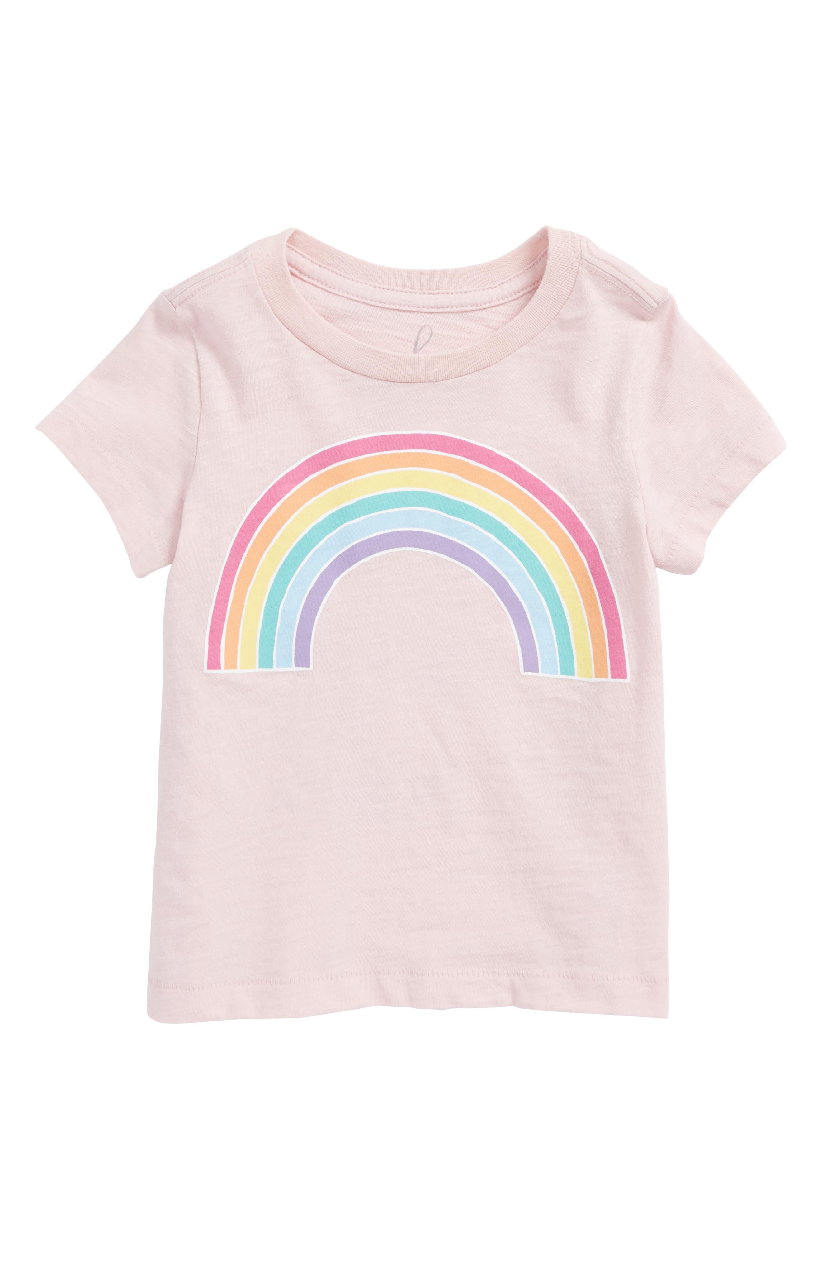 Rainbow Graphic Tee,                         Main,                         color, Light Pink