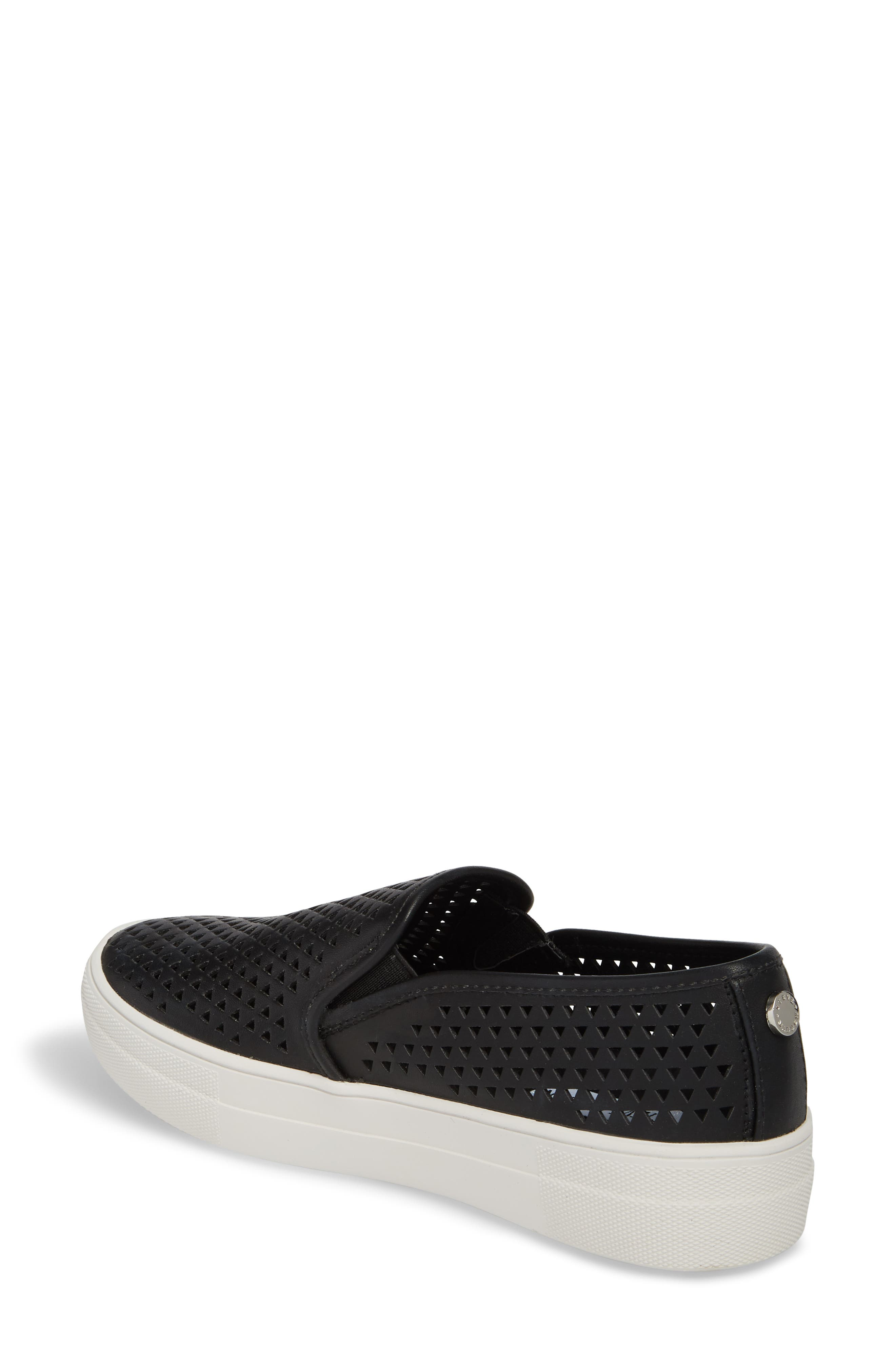 Gal-P Perforated Slip-On Sneaker,                             Alternate thumbnail 2, color,                             Black