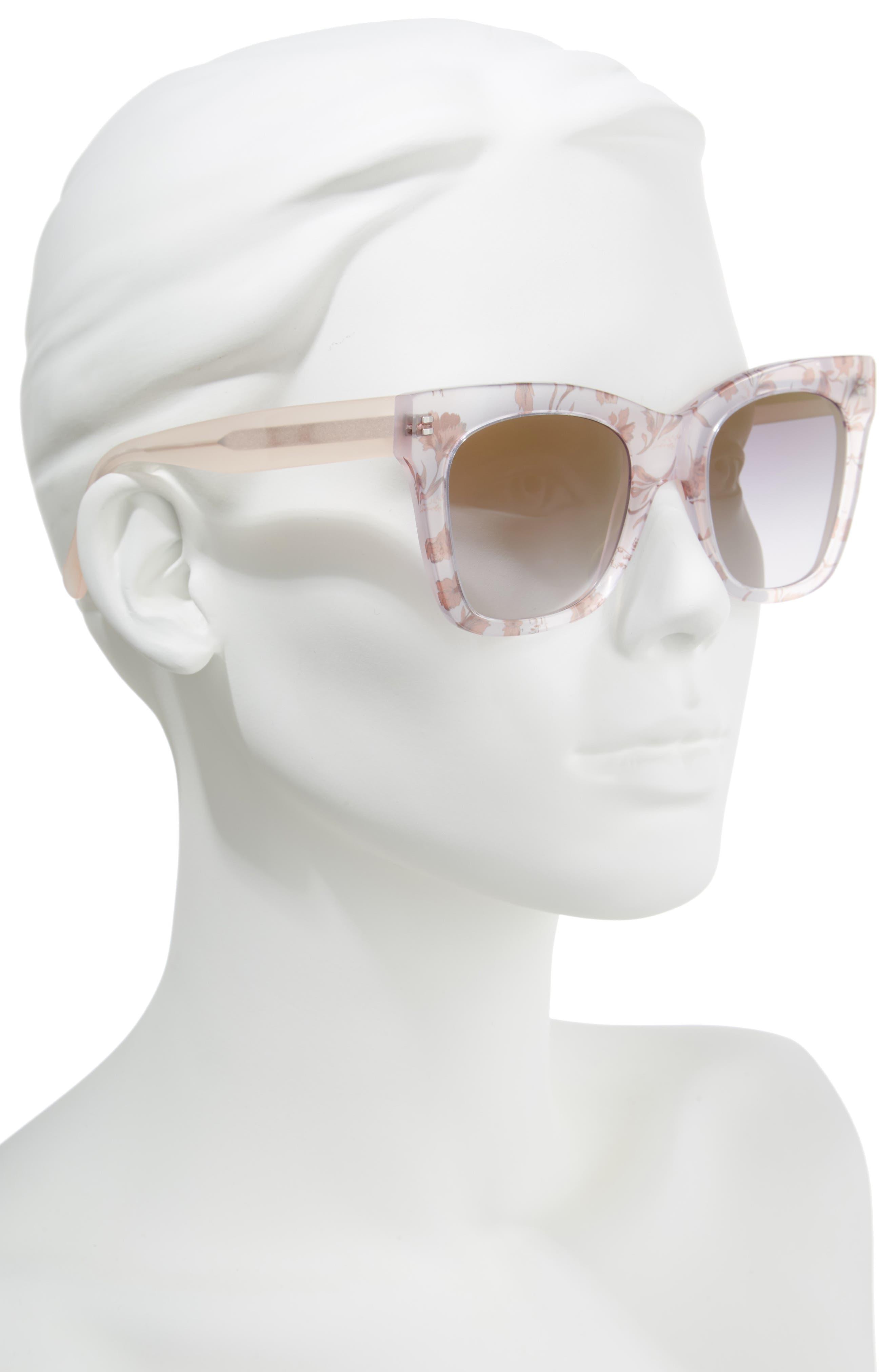 D'BLANC Beach Vida 52mm Sunglasses,                             Alternate thumbnail 2, color,                             Something Nice