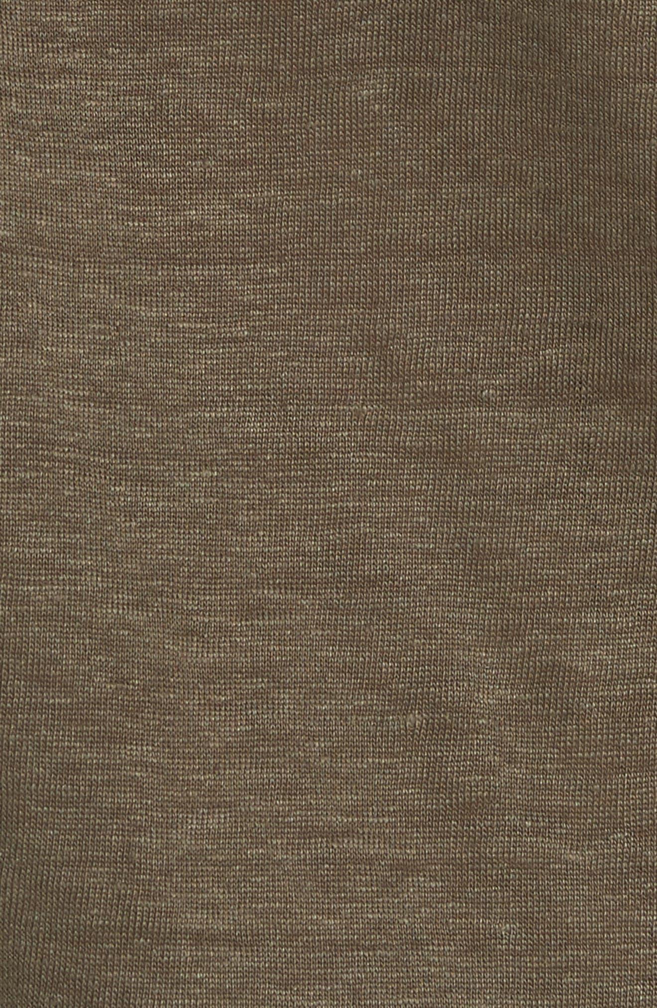 Linen Pullover,                             Alternate thumbnail 5, color,                             Bayleaf