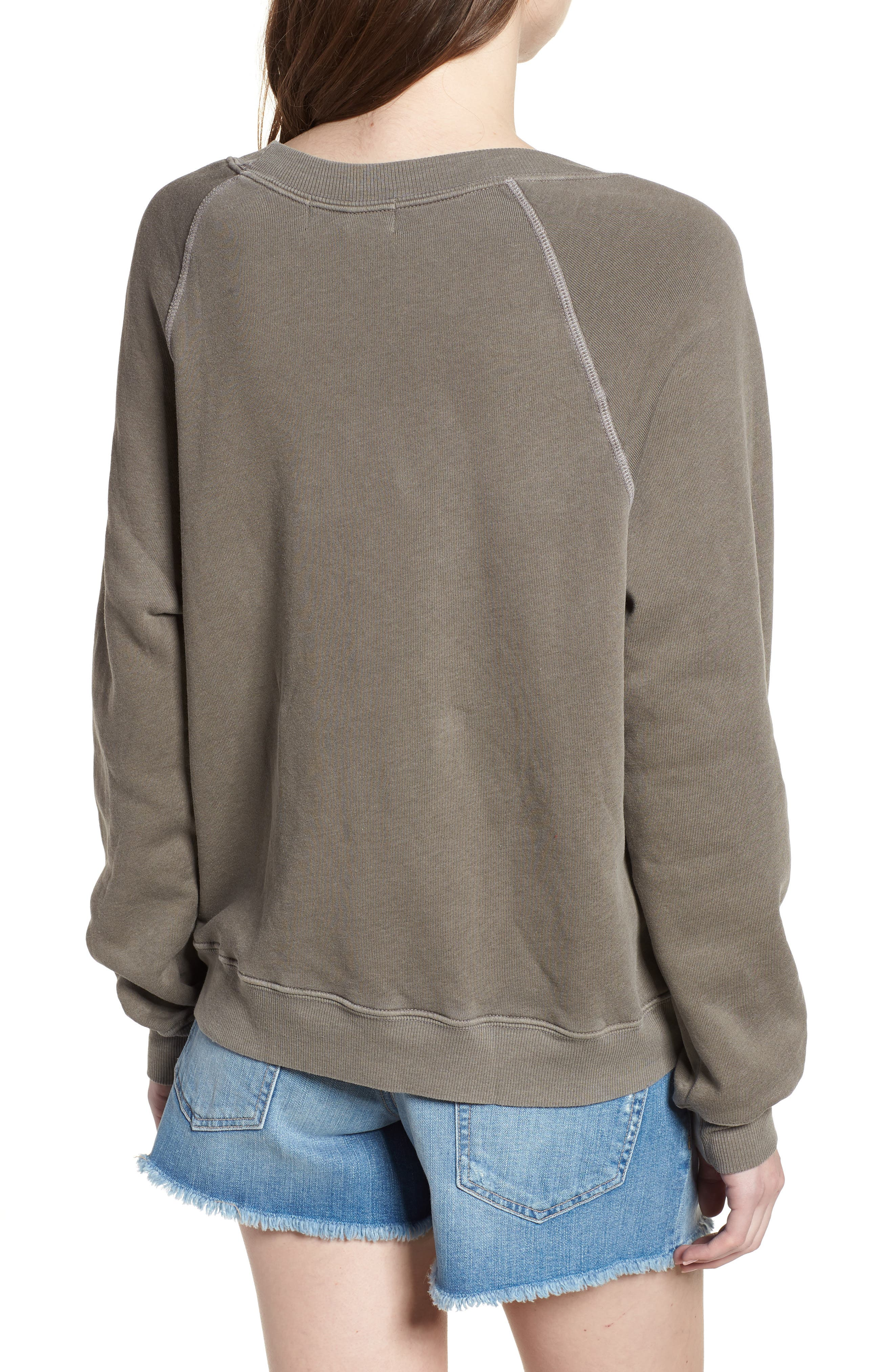 Tender - Sommers Sweatshirt,                             Alternate thumbnail 2, color,                             Od Green