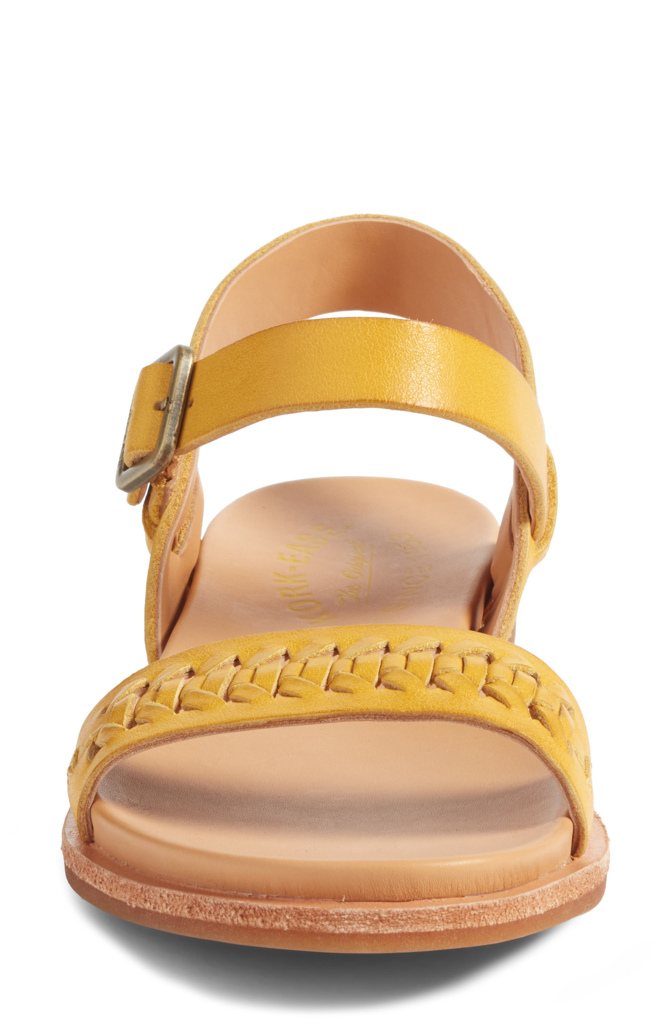 Yucca Braid Sandal,                             Alternate thumbnail 4, color,                             Yellow Leather