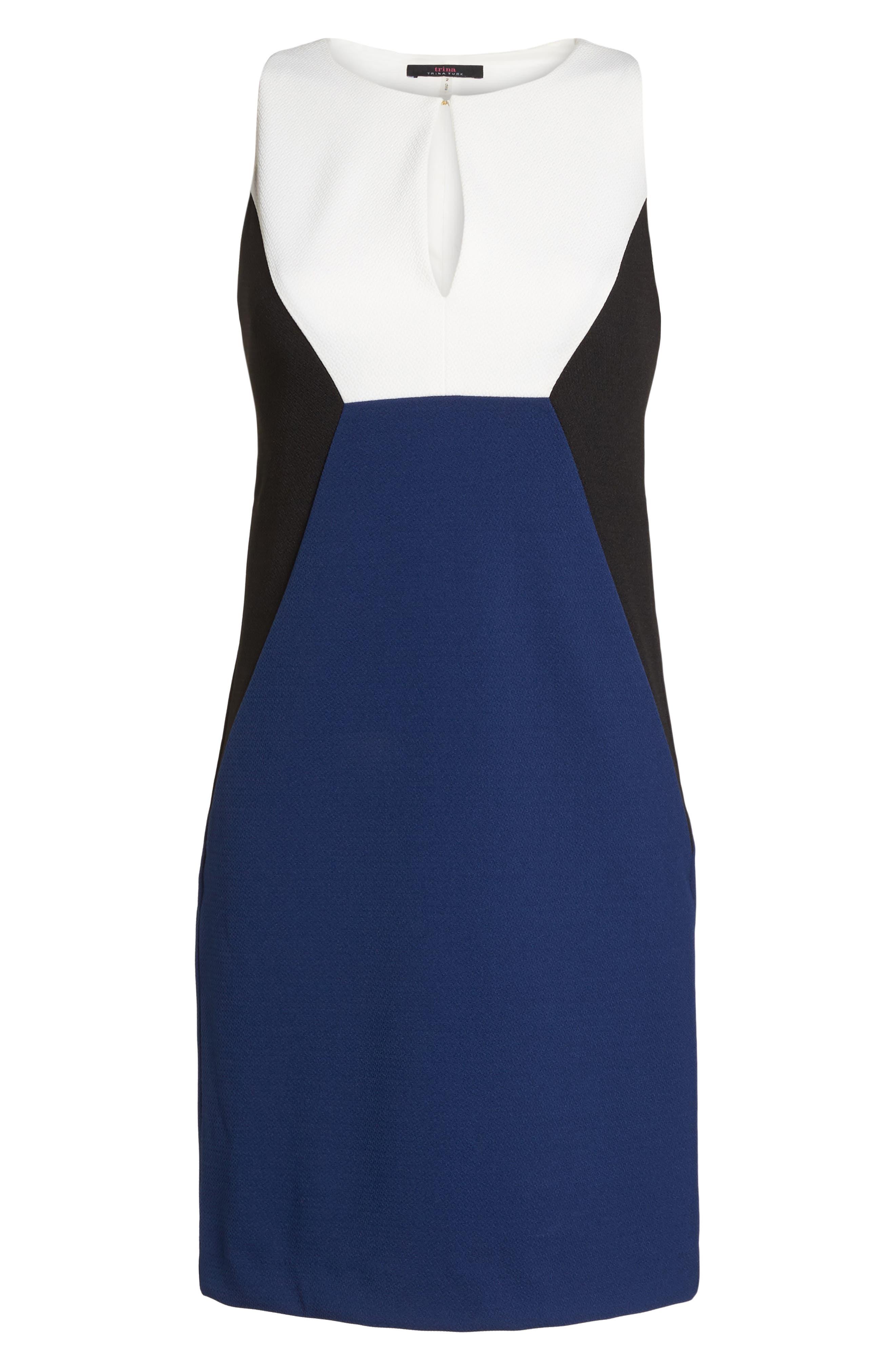 Evelyn Colorblock Sheath Dress,                             Alternate thumbnail 7, color,                             Multi