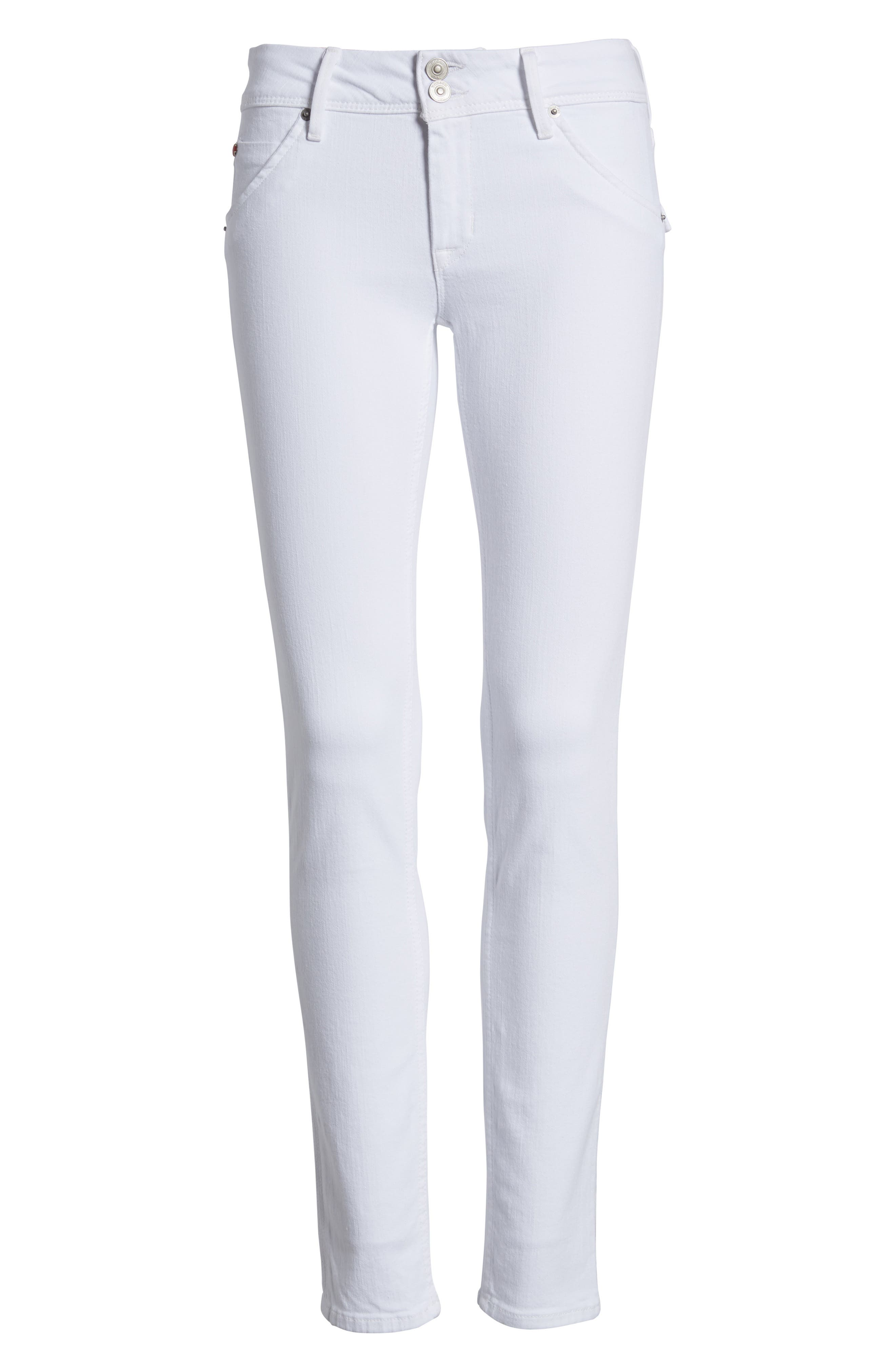 Collin Skinny Jeans,                             Alternate thumbnail 7, color,                             Optical White
