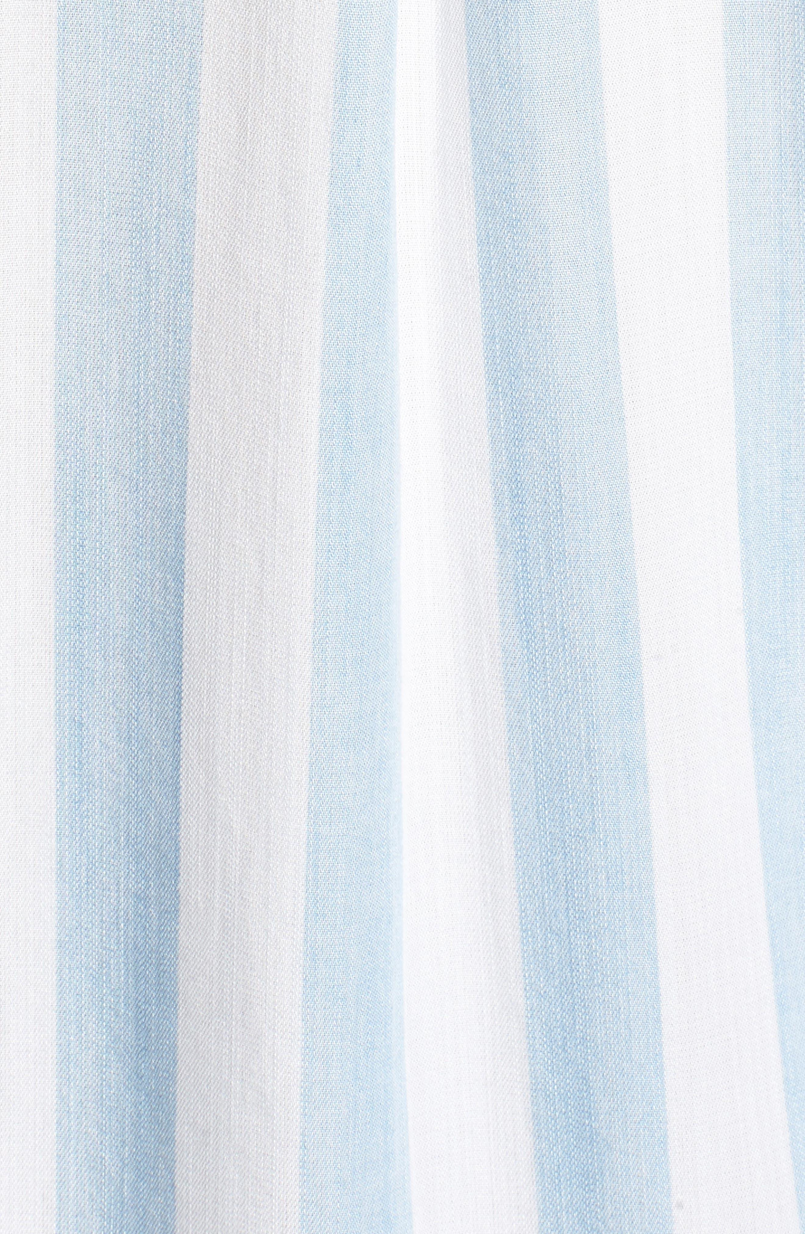 Ingrid Stripe Chambray Shirt,                             Alternate thumbnail 6, color,                             Block Stripe