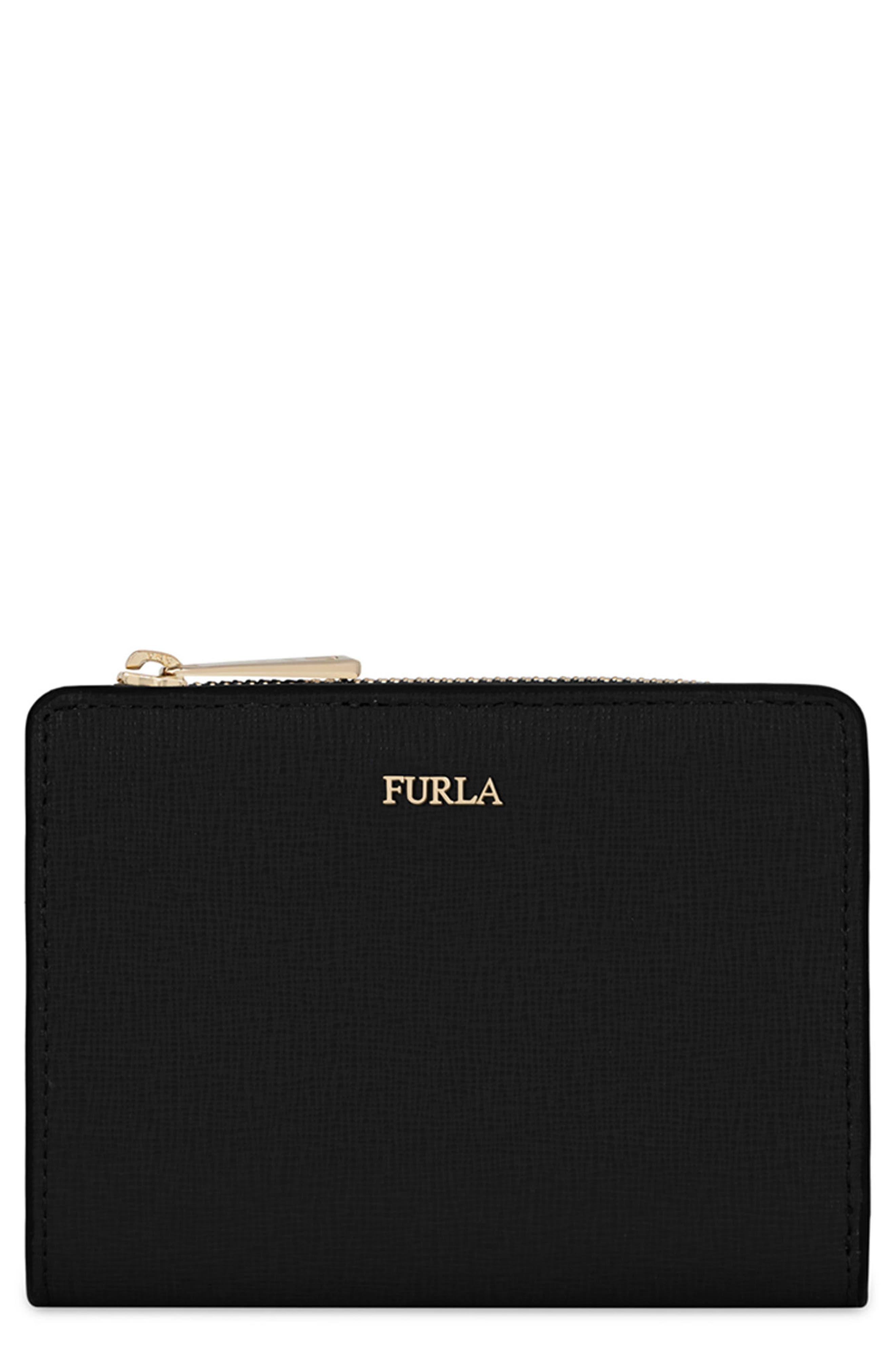 Furla Small Babylon Saffiano Leather Zip Around Wallet