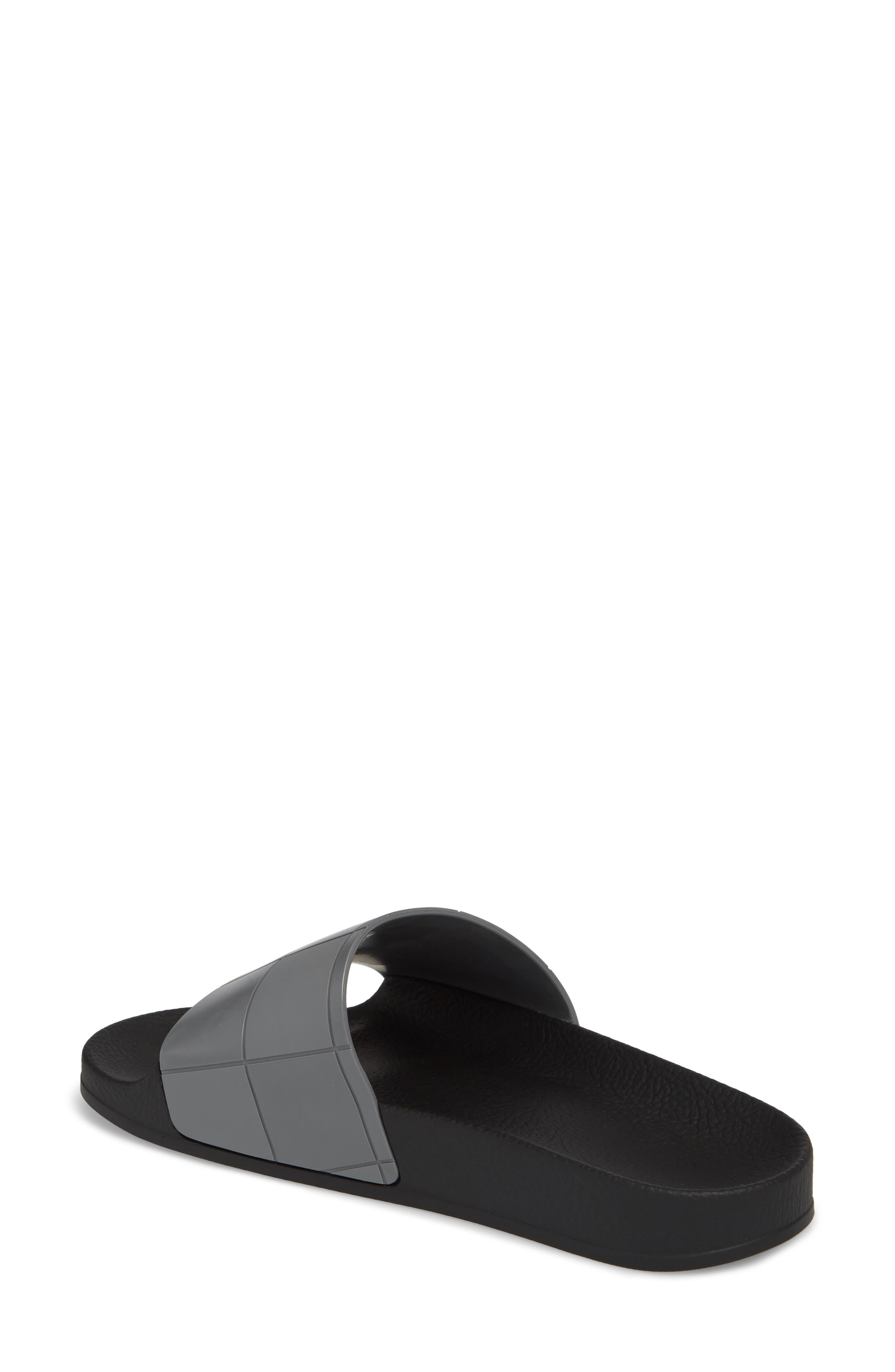Adilette Slide Sandal,                             Alternate thumbnail 2, color,                             Core Black/ Granite