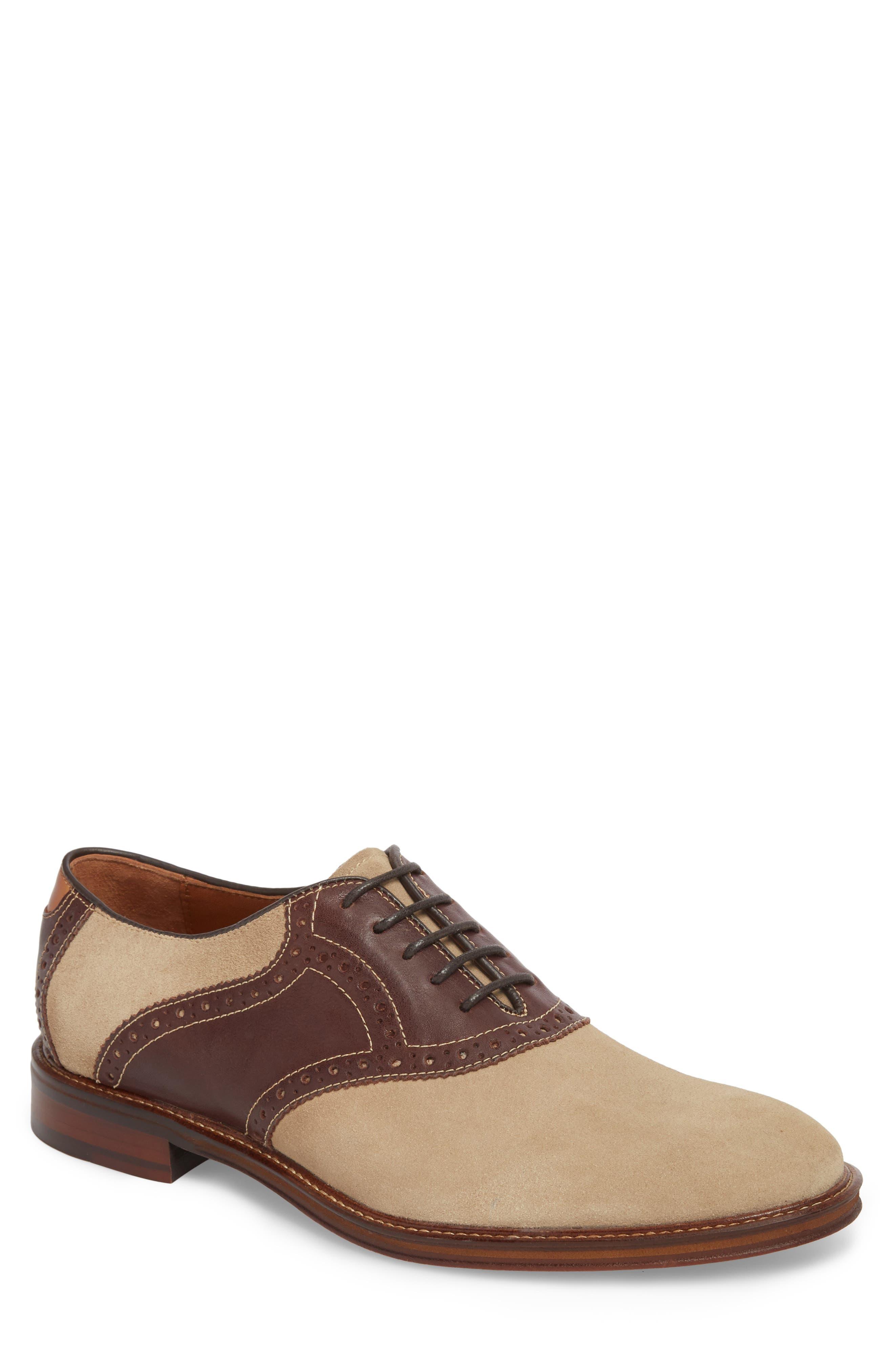 Warner Saddle Shoe,                         Main,                         color, Camel Nubuck