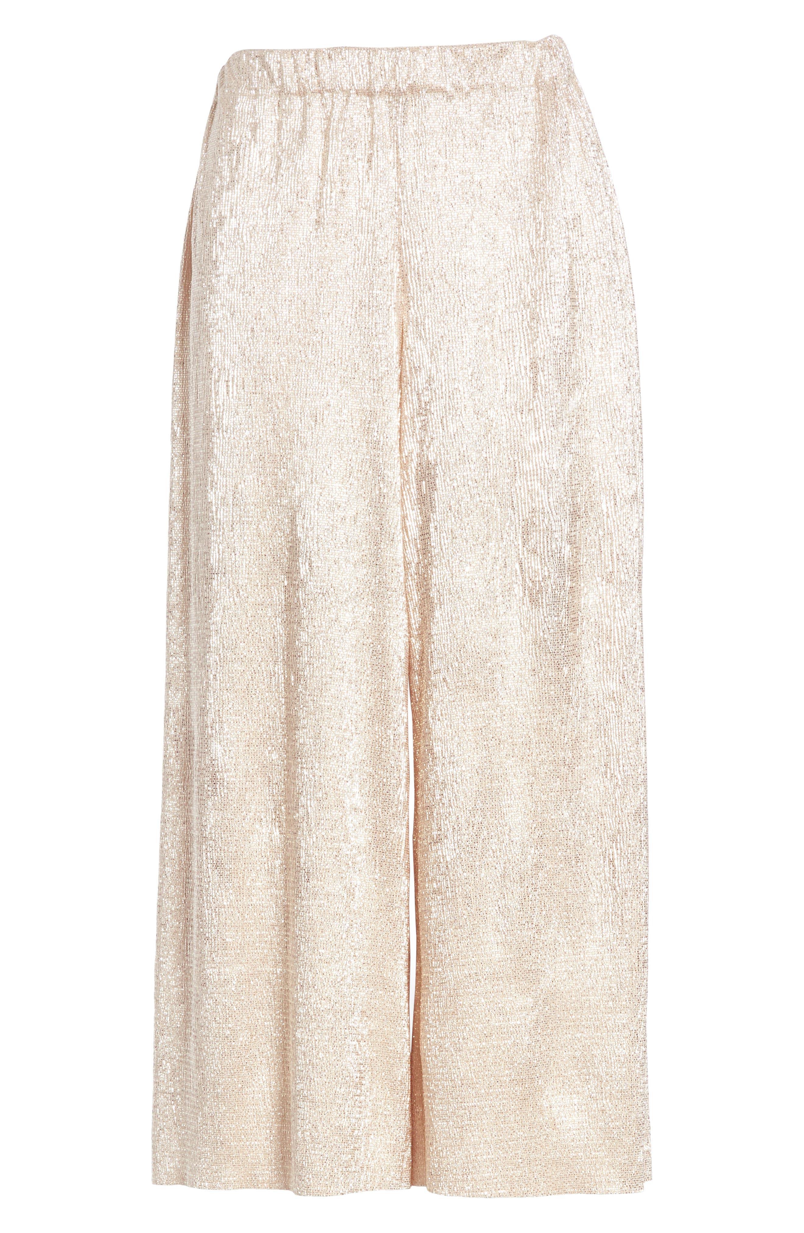 Elba Textured Crepe Wide Leg Pants,                             Alternate thumbnail 6, color,                             Blush