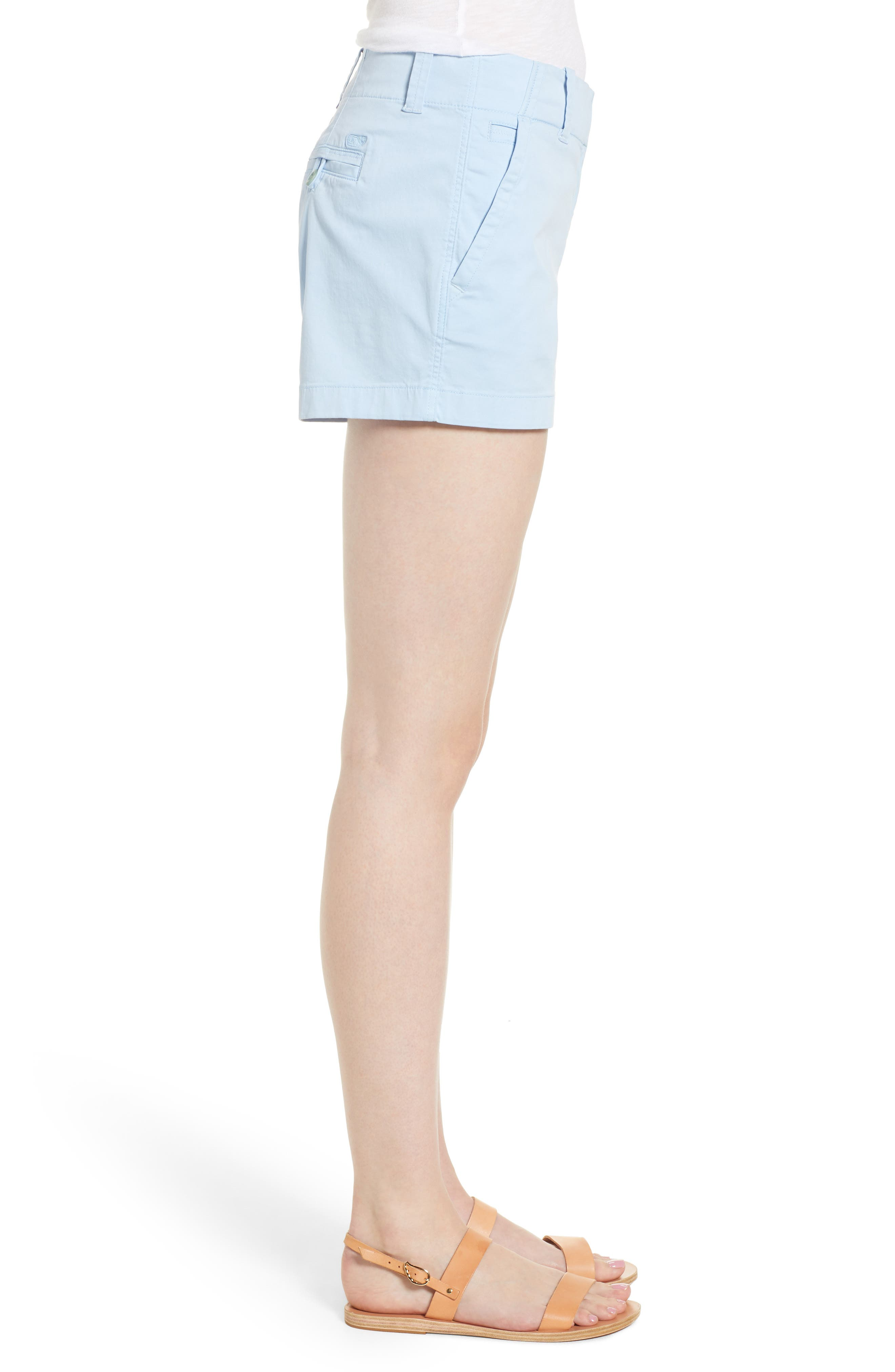 Everyday Stretch Cotton Shorts,                             Alternate thumbnail 3, color,                             Jake Blue