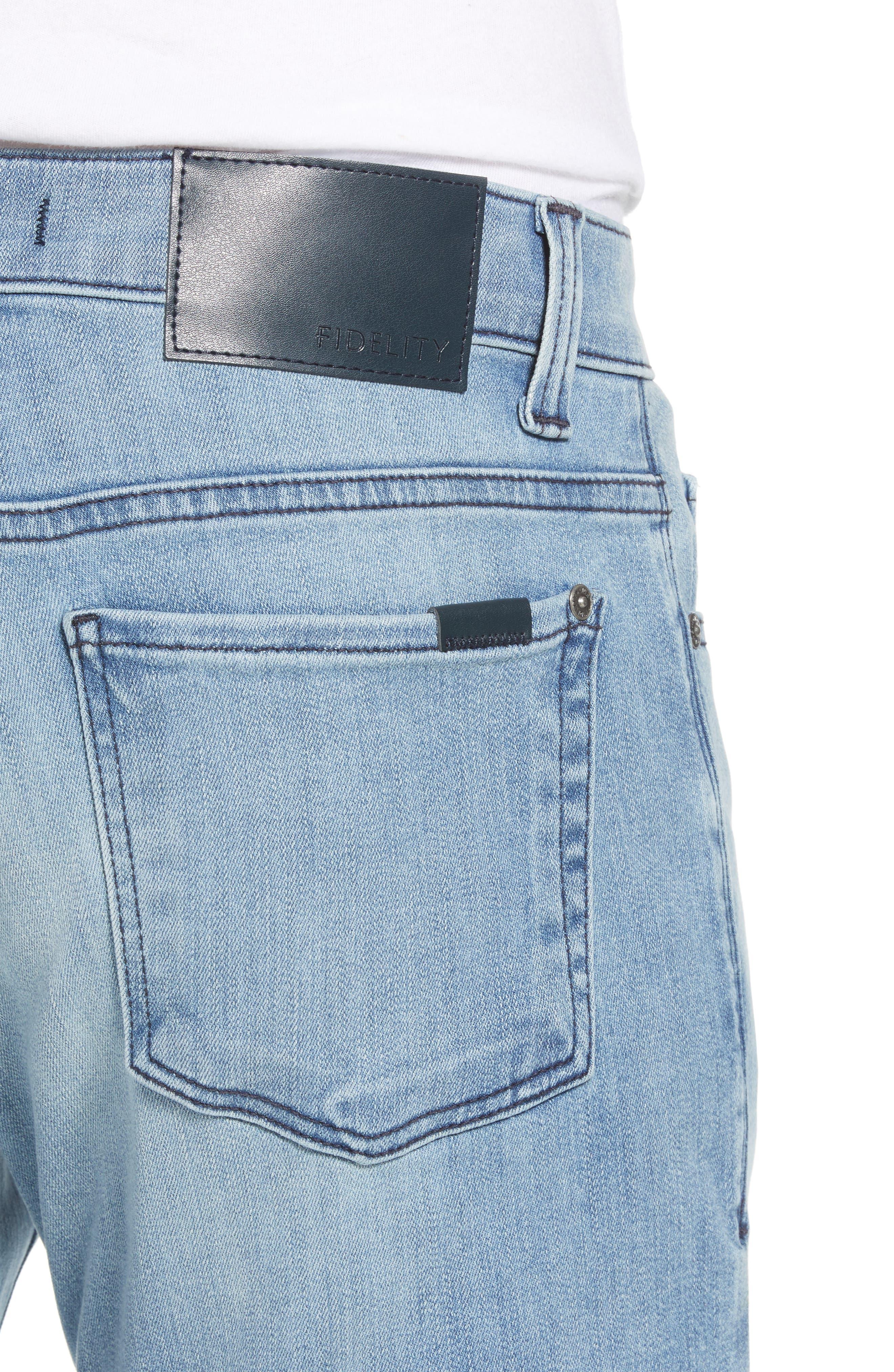 Jimmy Slim Straight Leg Jeans,                             Alternate thumbnail 4, color,                             Abbey Blue