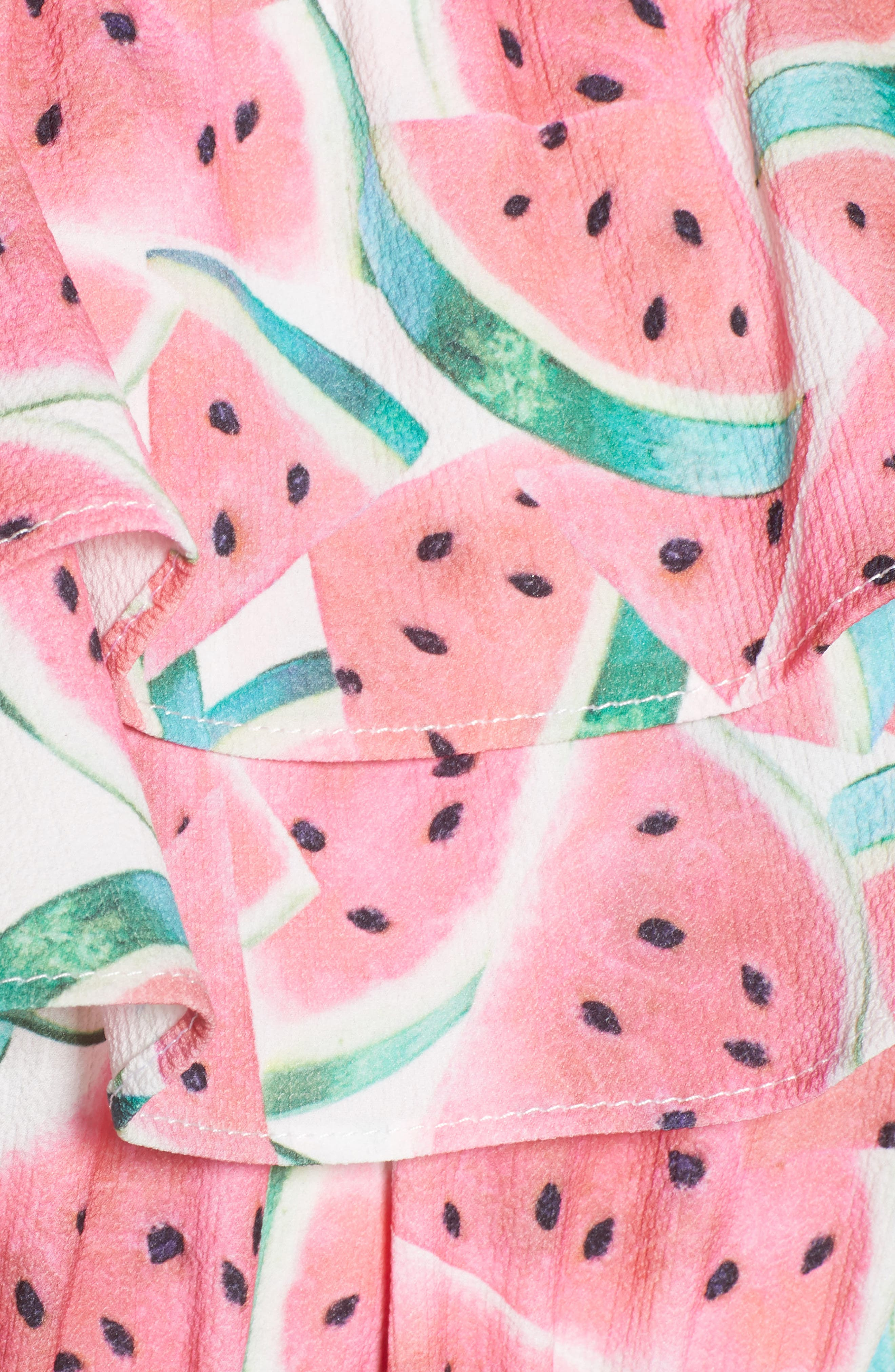 Kaya Crop Top,                             Alternate thumbnail 7, color,                             One In A Melon Crinkle Stretch