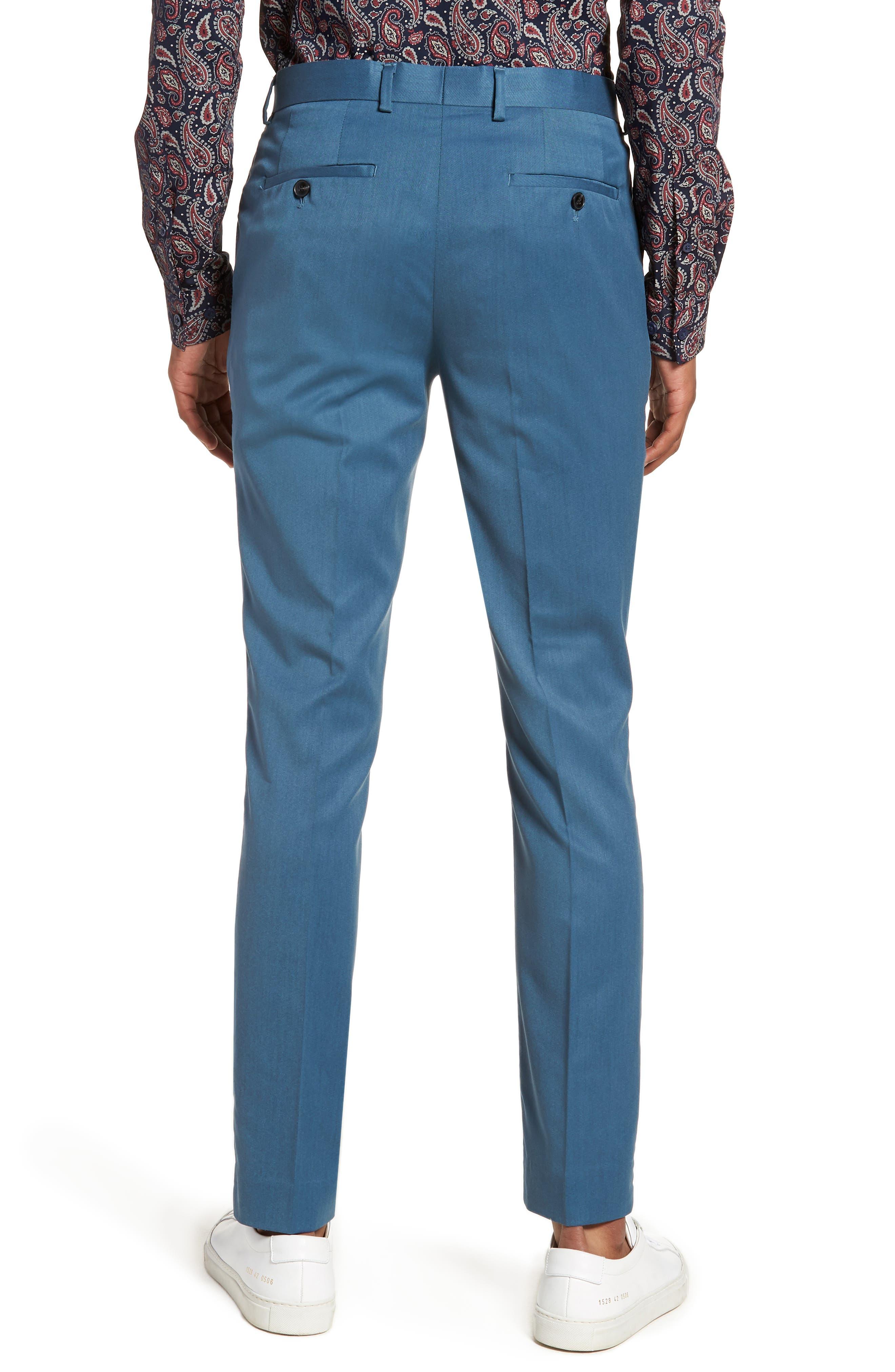 Skinny Fit Suit Trousers,                             Alternate thumbnail 2, color,                             Light Blue