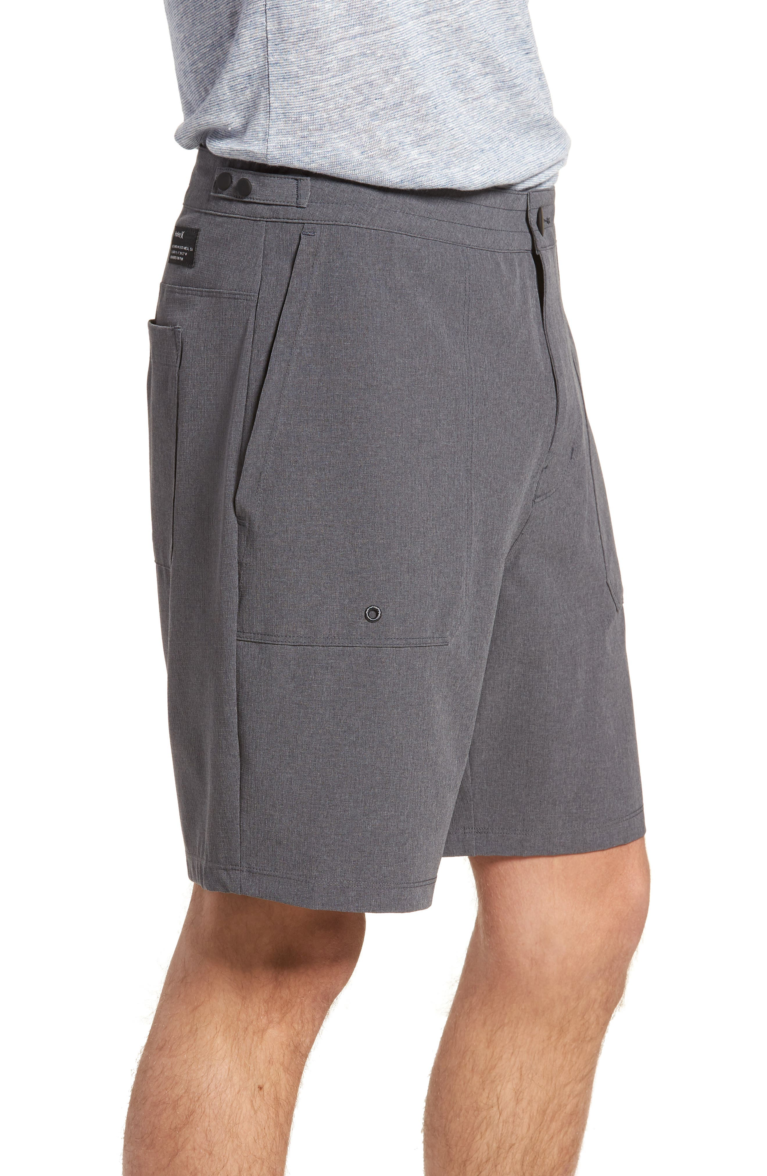Phantom Coastline Shorts,                             Alternate thumbnail 3, color,                             Black Heather