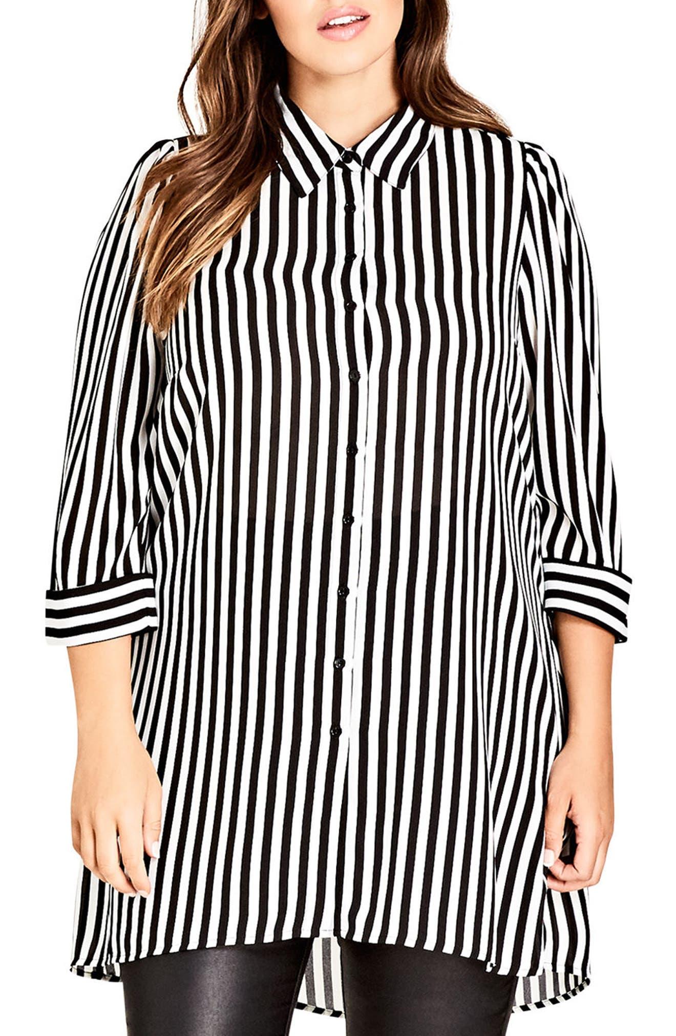 City Chic Stripe Love Tunic (Plus Size)