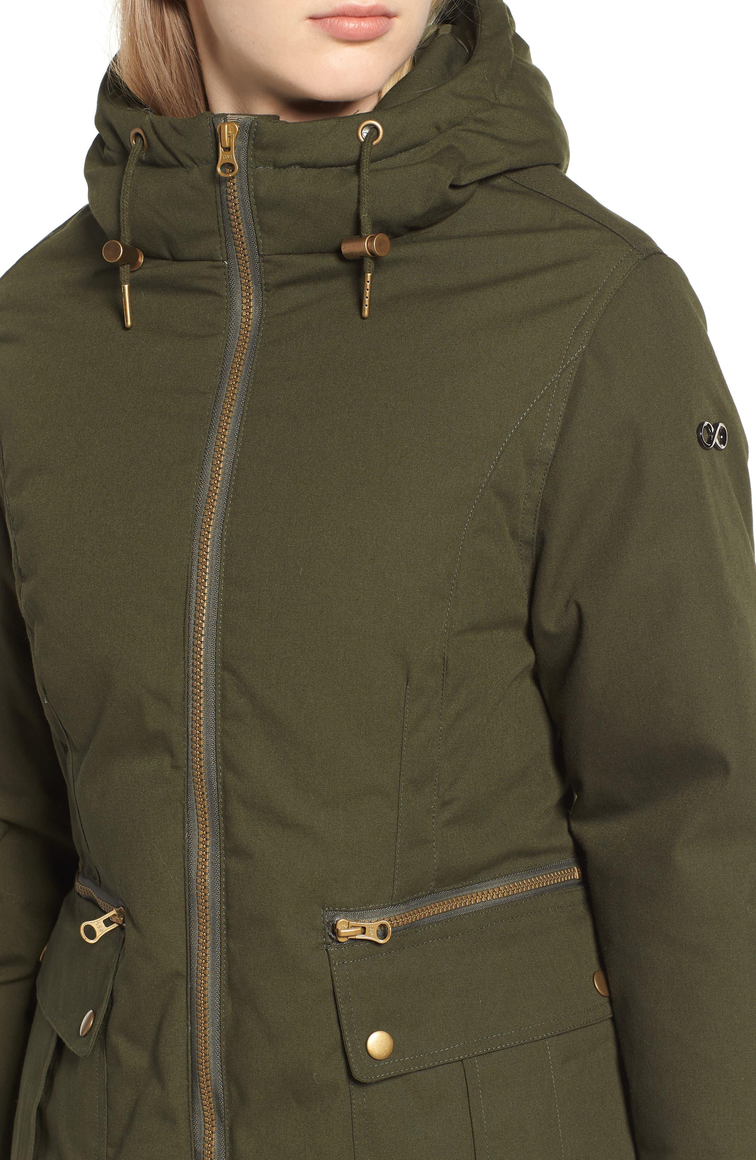 Convertible Down 3-in-1 Maternity Jacket,                             Alternate thumbnail 6, color,                             Khaki Green
