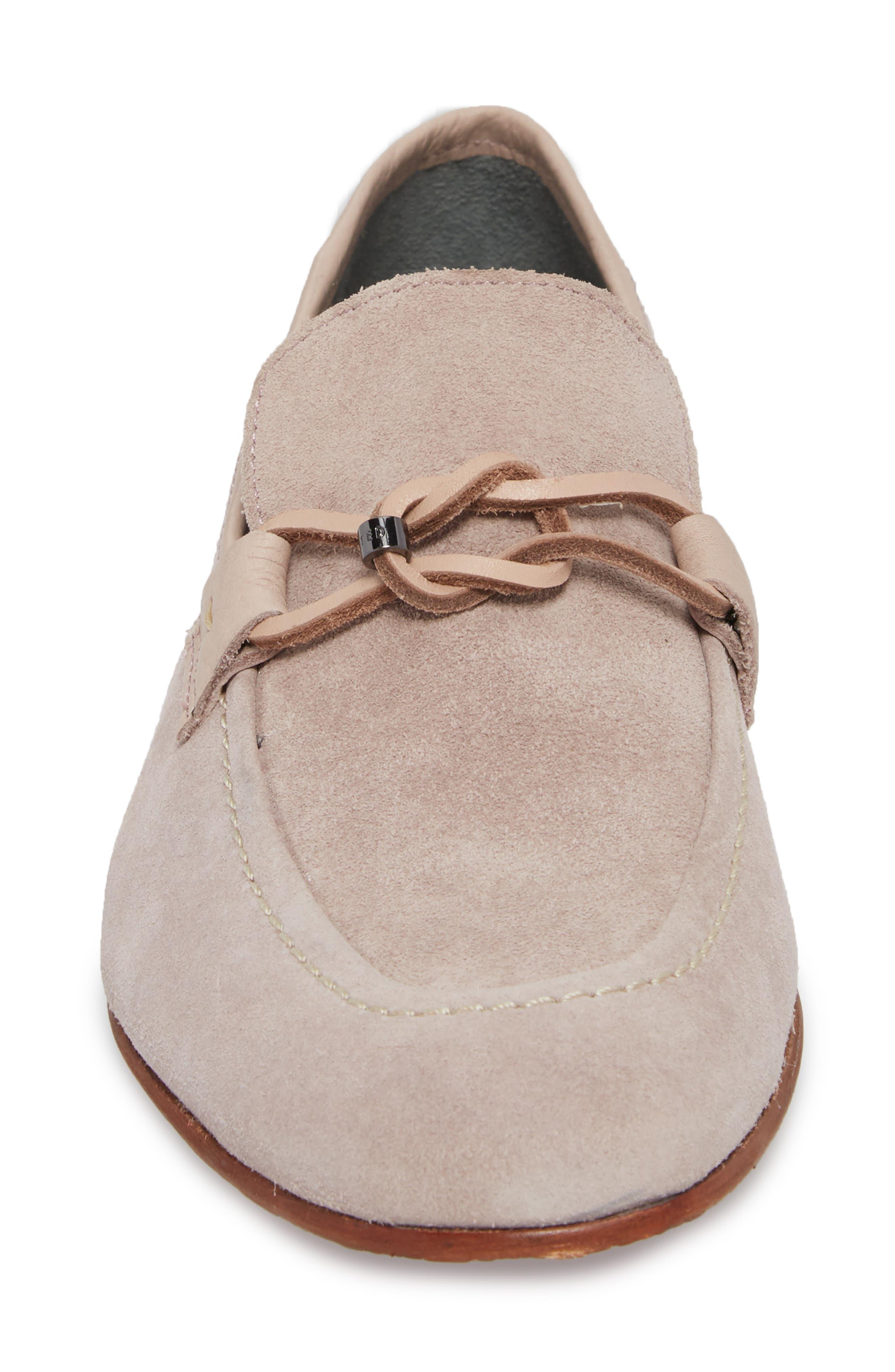 Hoppken Convertible Knotted Loafer,                             Alternate thumbnail 4, color,                             Light Pink Suede