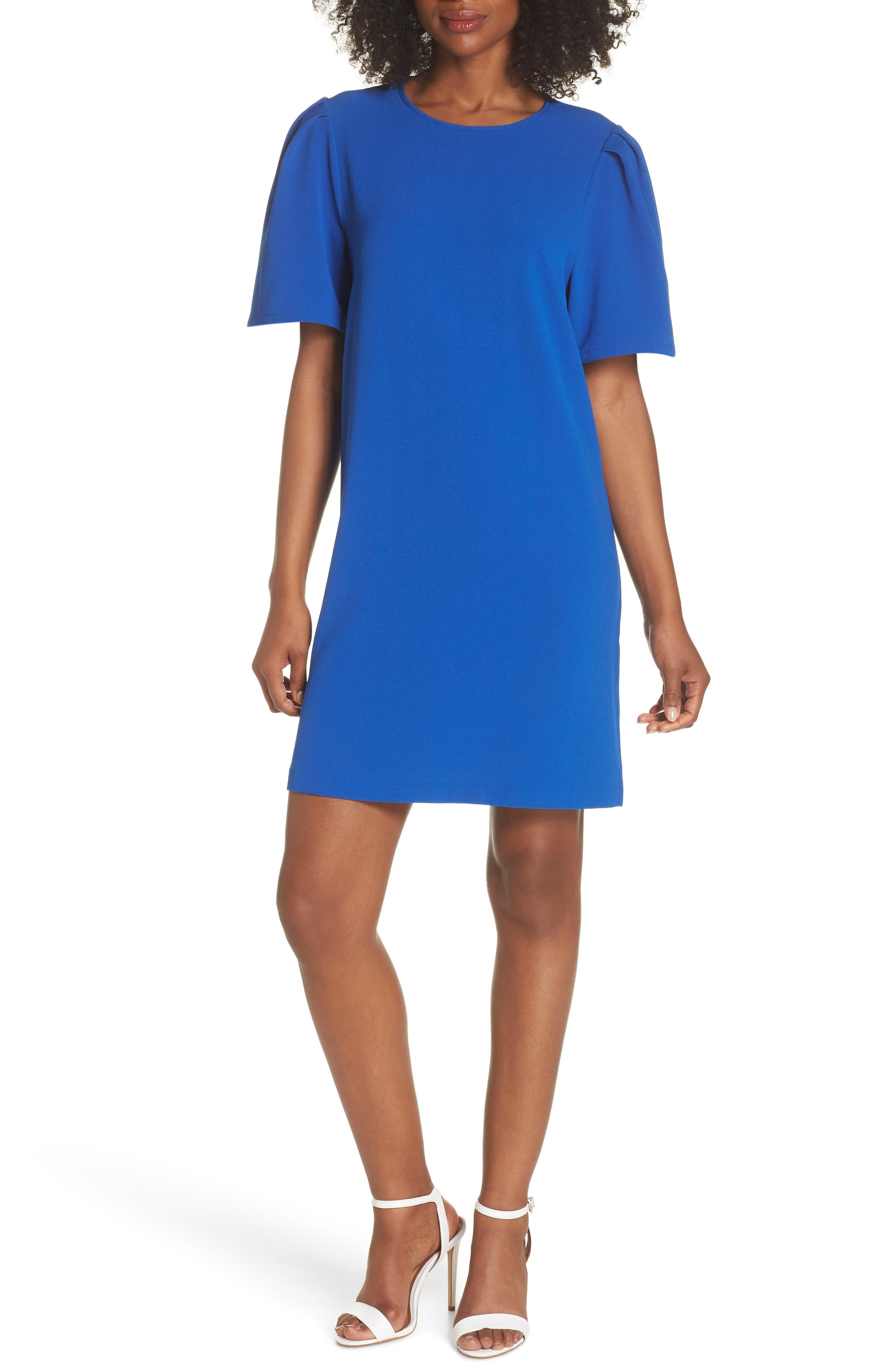 Anya Shift Dress,                         Main,                         color, Cobalt