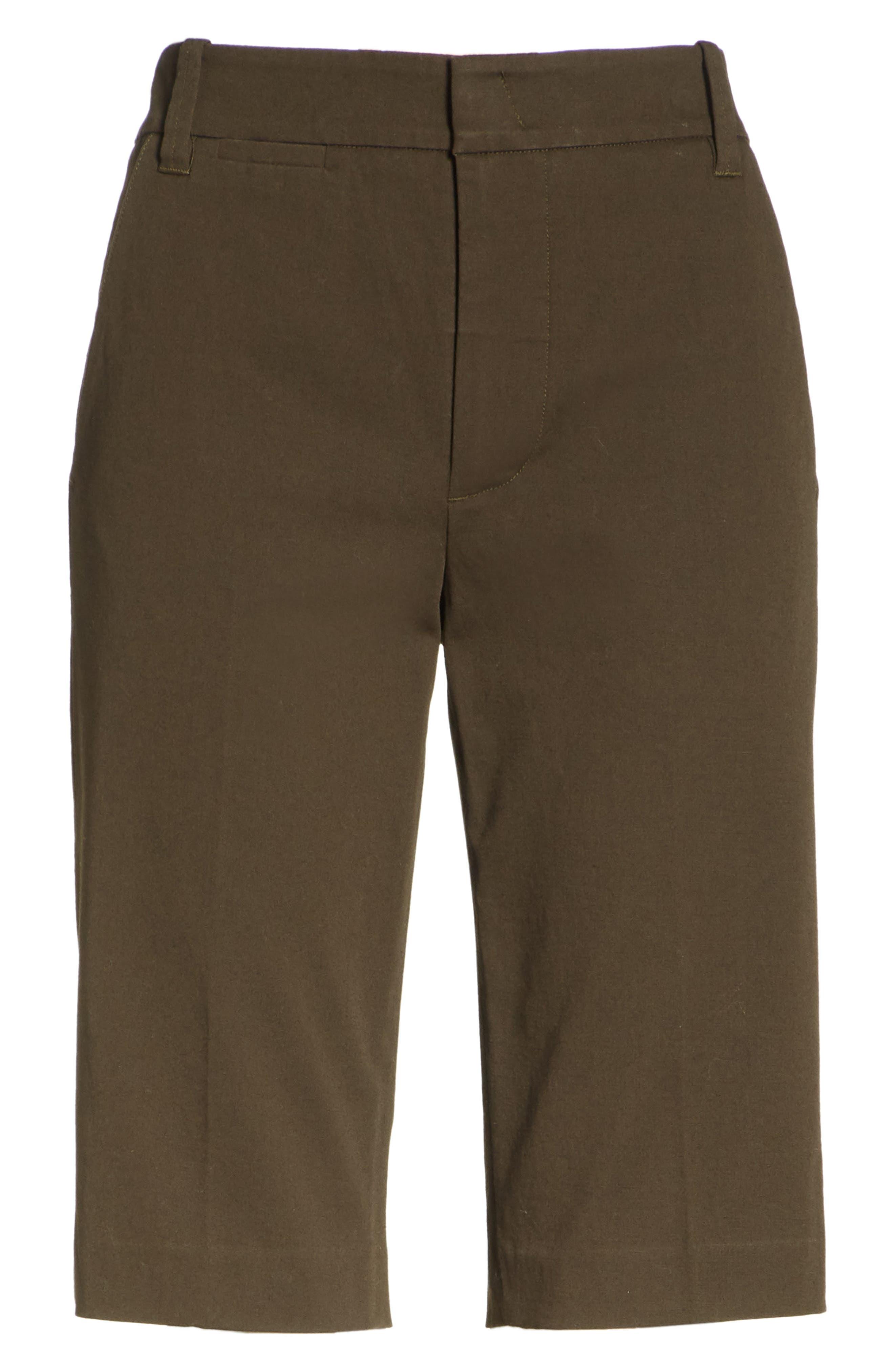 Coin Pocket Bermuda Shorts,                             Alternate thumbnail 6, color,                             Pinon Green