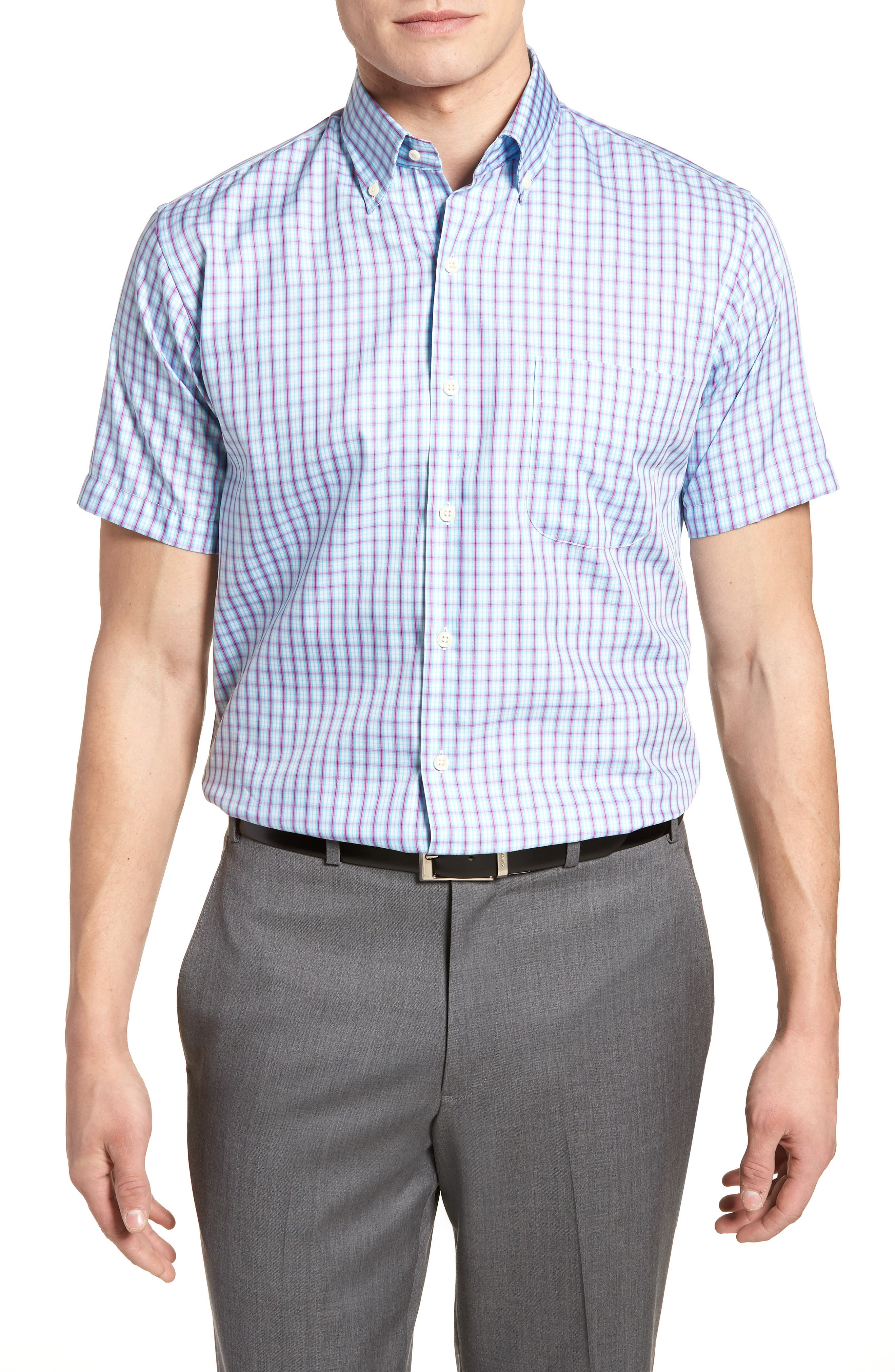 Crown Soft Carlsplaid Regular Fit Sport Shirt,                         Main,                         color, Urchin