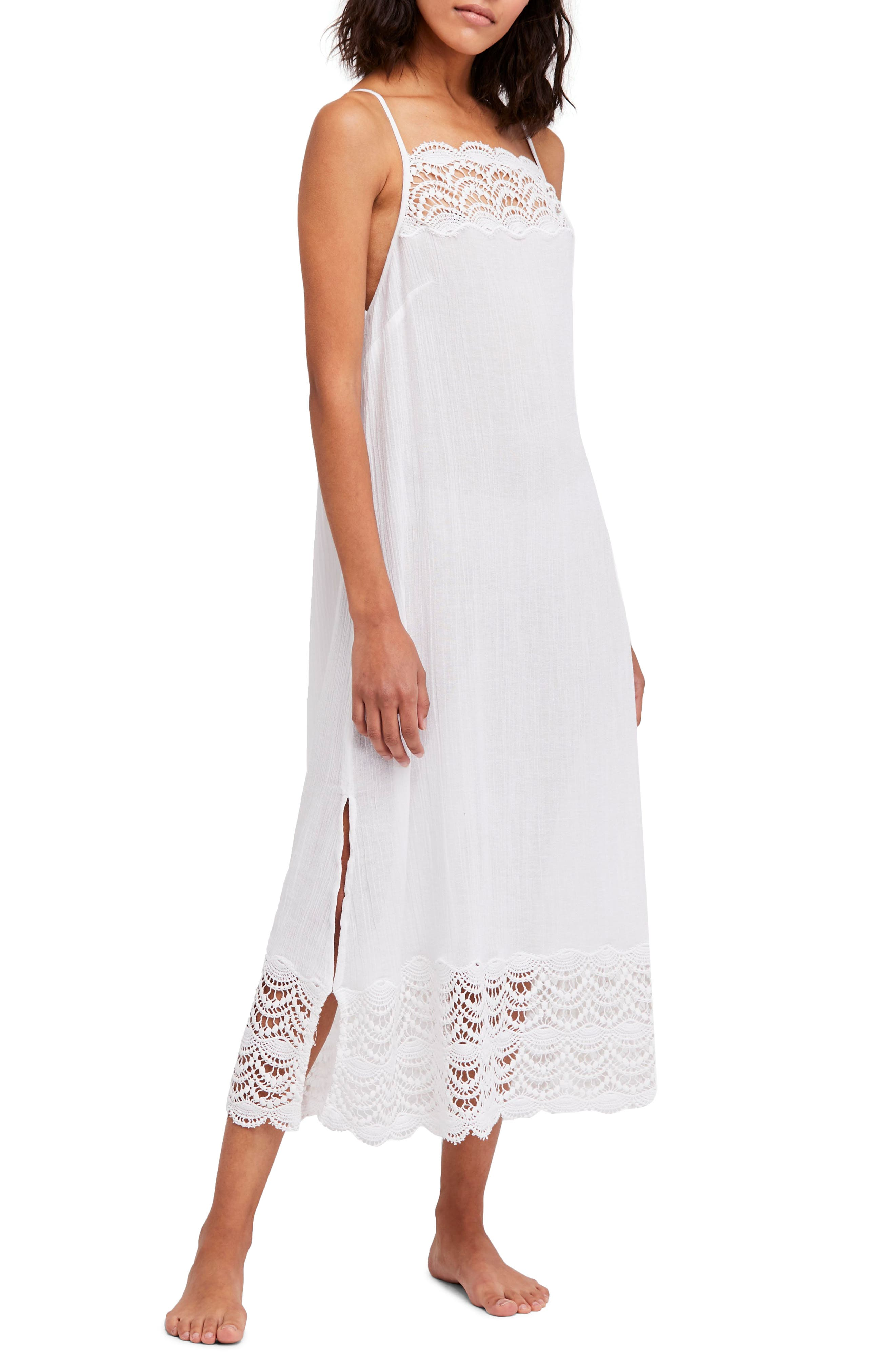 Abbie Crinkle Maxi Dress,                         Main,                         color, Ivory