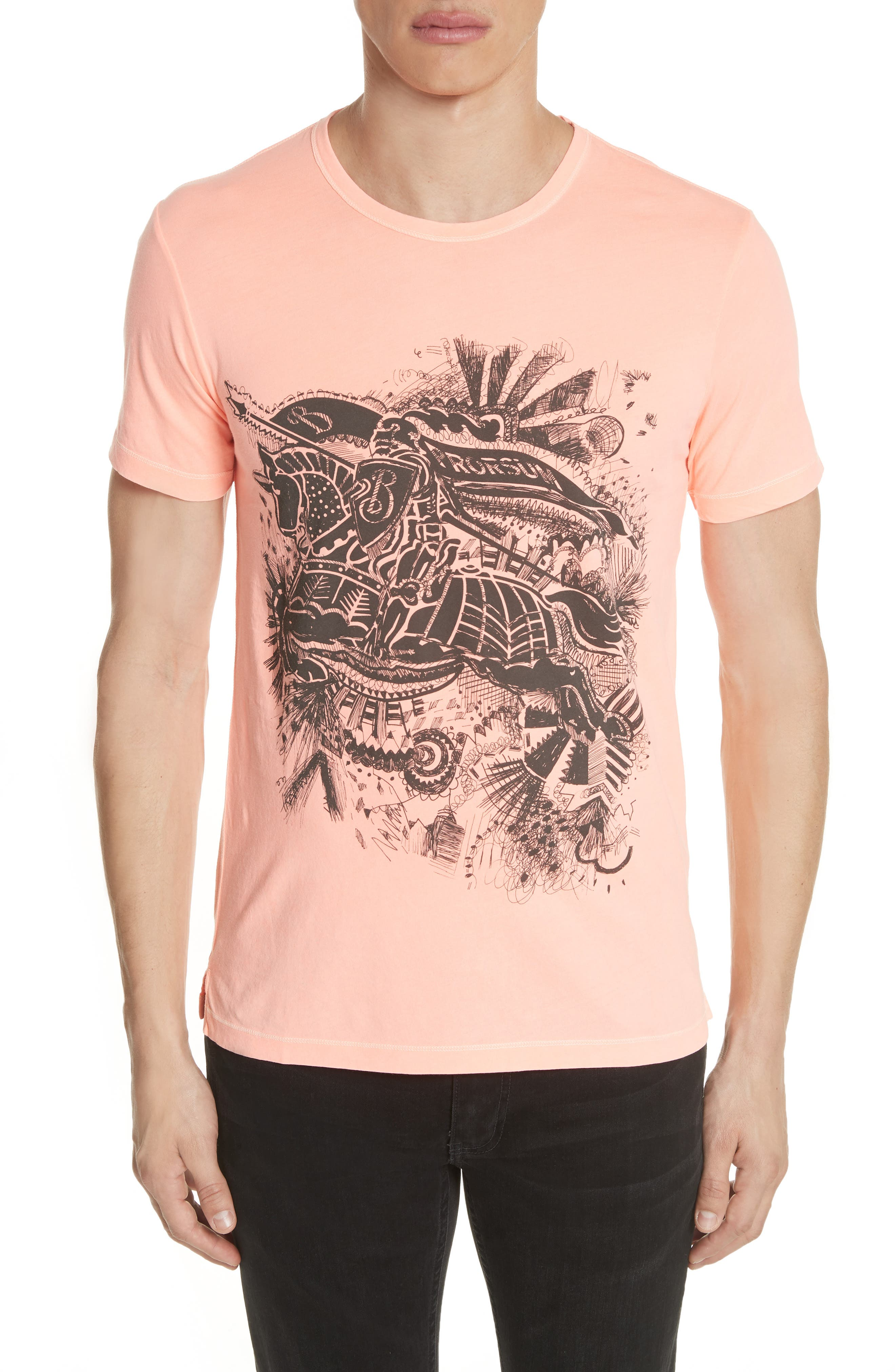 Rhine Graphic T-Shirt,                         Main,                         color, Bright Clementine