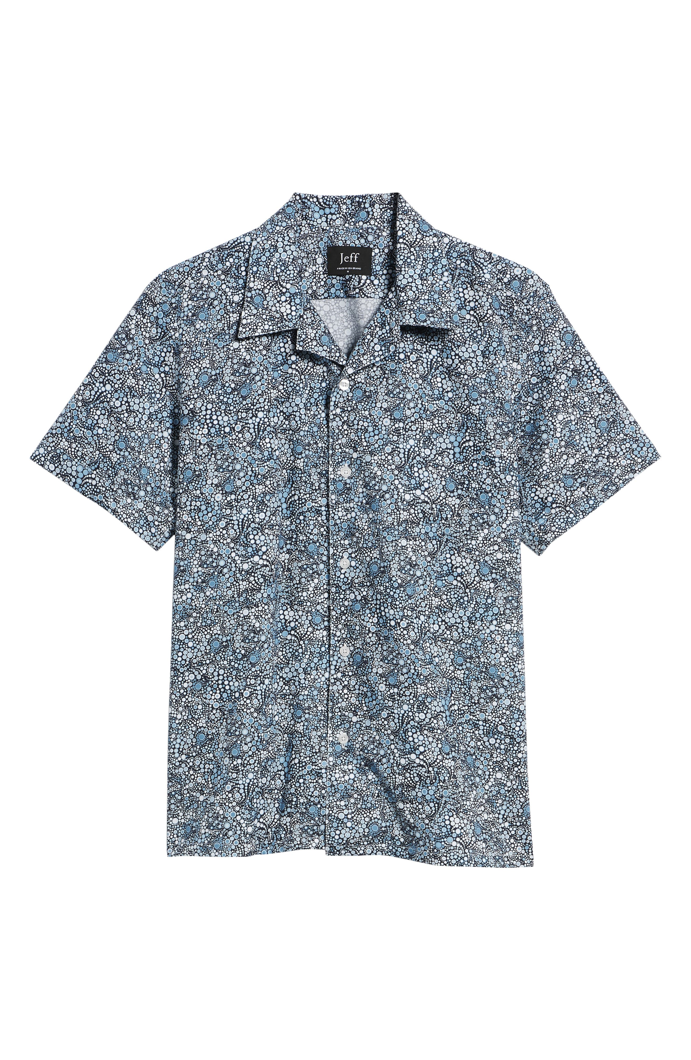 Laguna Novelty Trim Fit Sport Shirt,                             Alternate thumbnail 6, color,                             Blue