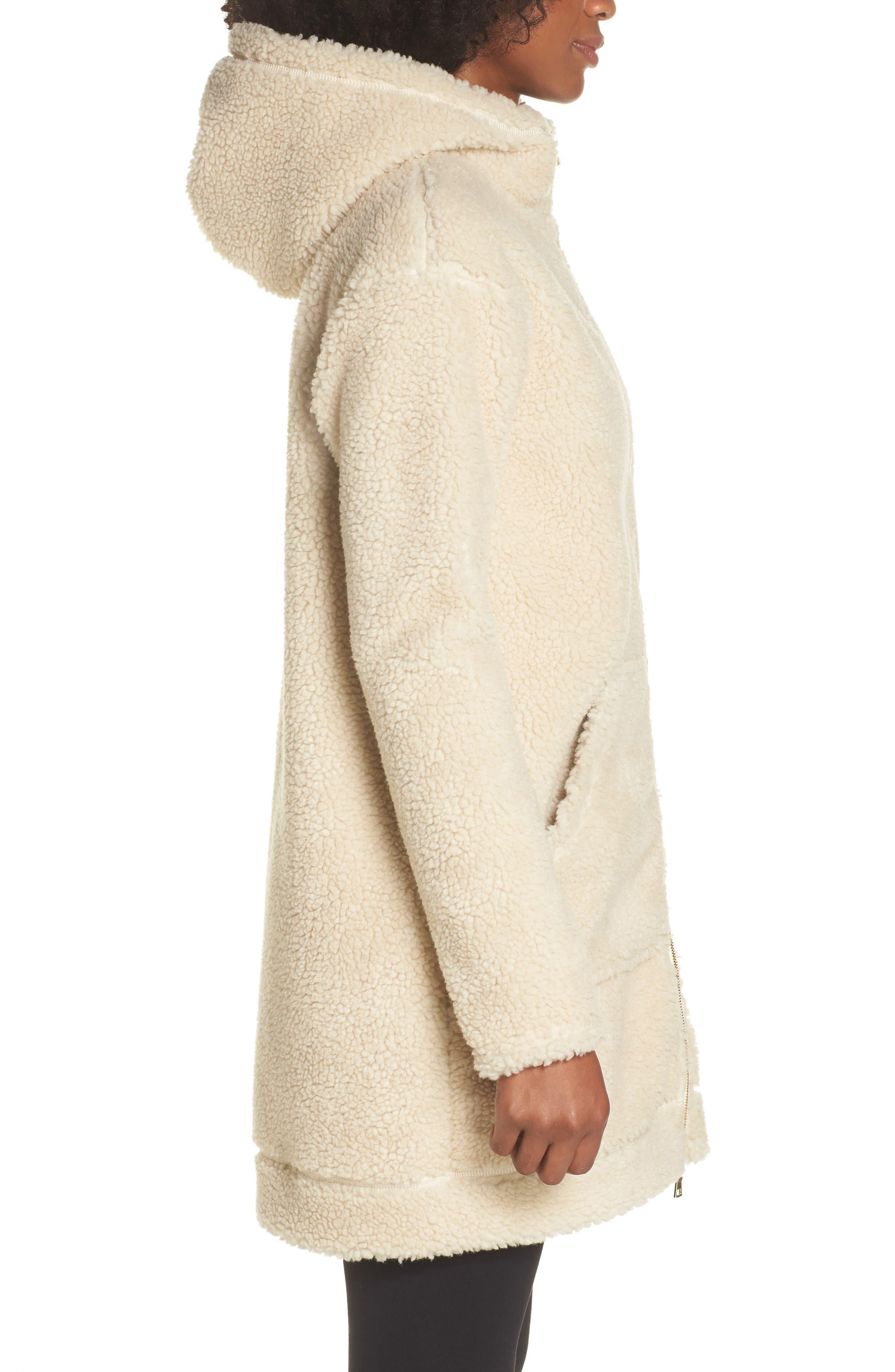 Brea Fleece Jacket,                             Alternate thumbnail 3, color,                             Natural