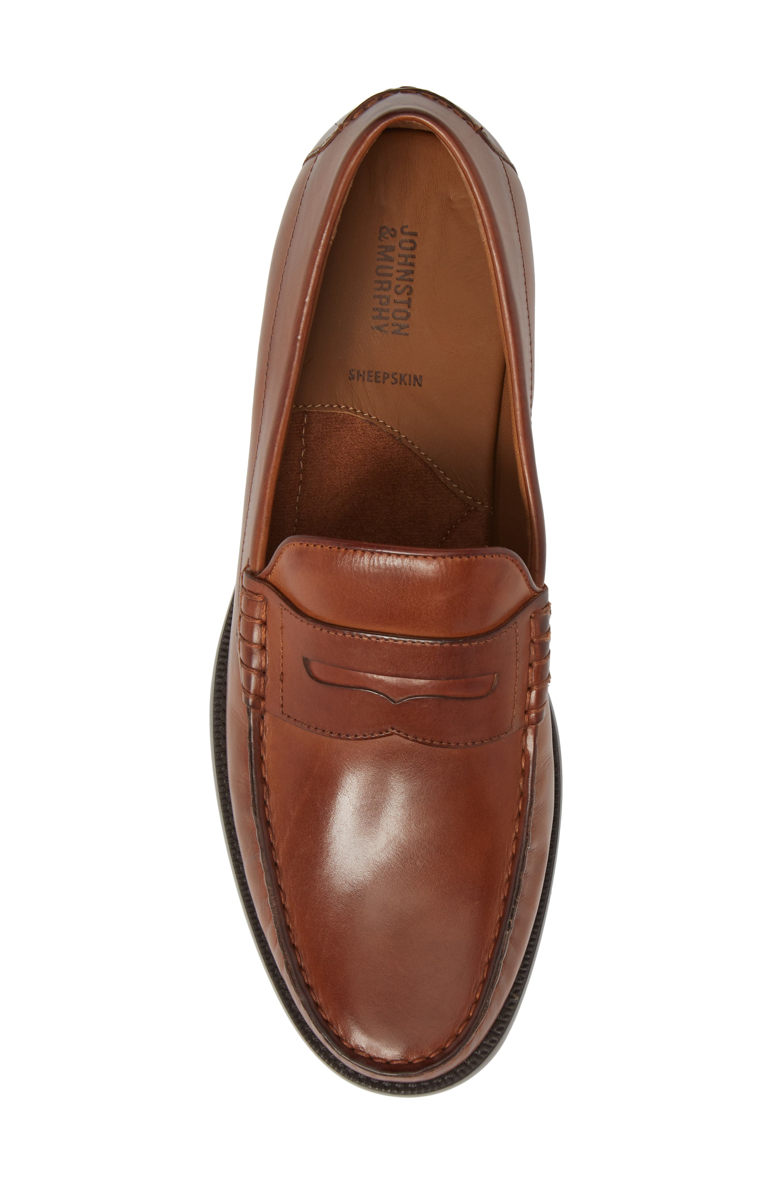 Chadwell Penny Loafer,                             Alternate thumbnail 5, color,                             Tan Leather