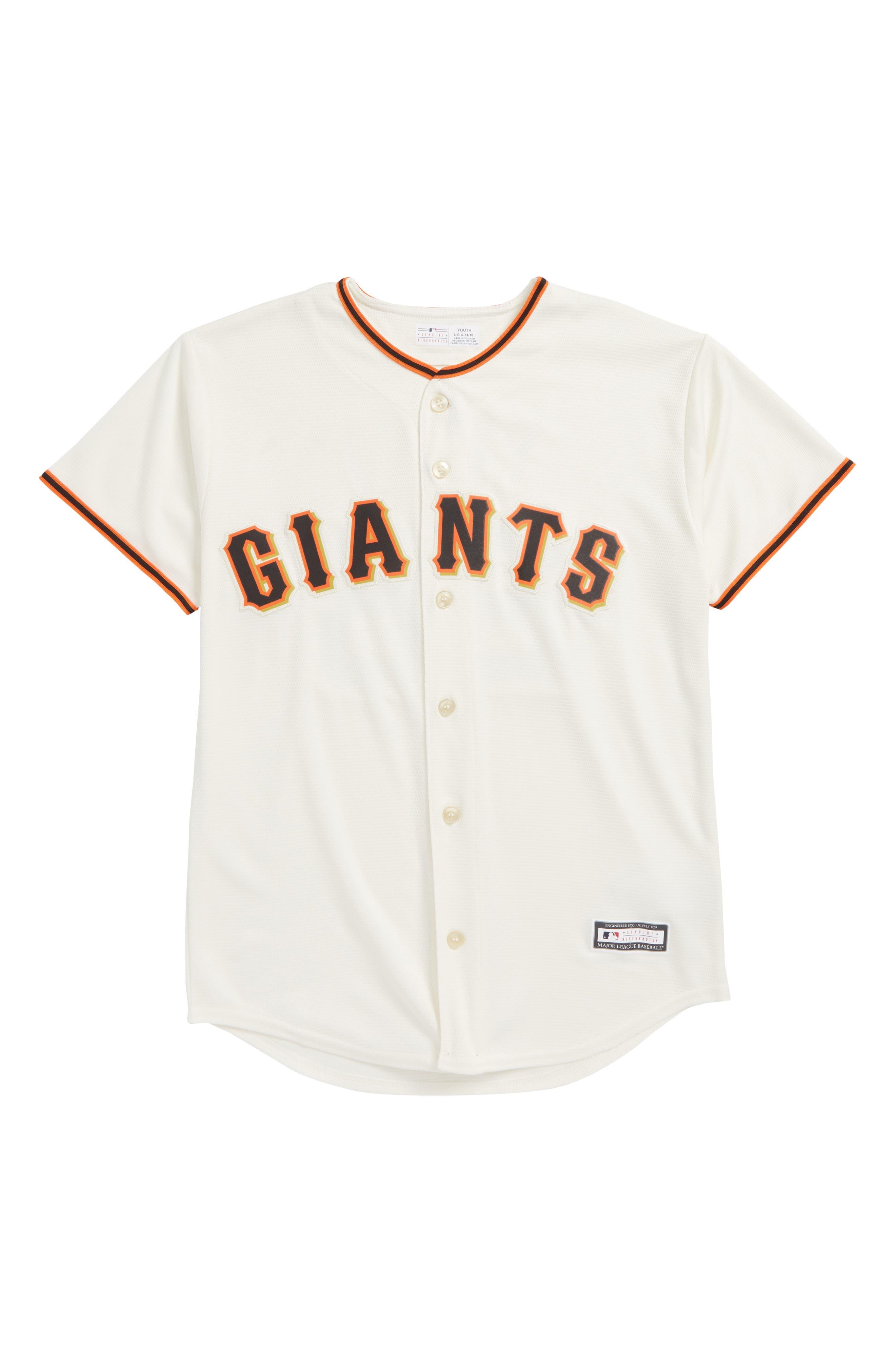 San Francisco Giants - Buster Posey Baseball Jersey,                             Main thumbnail 1, color,                             White