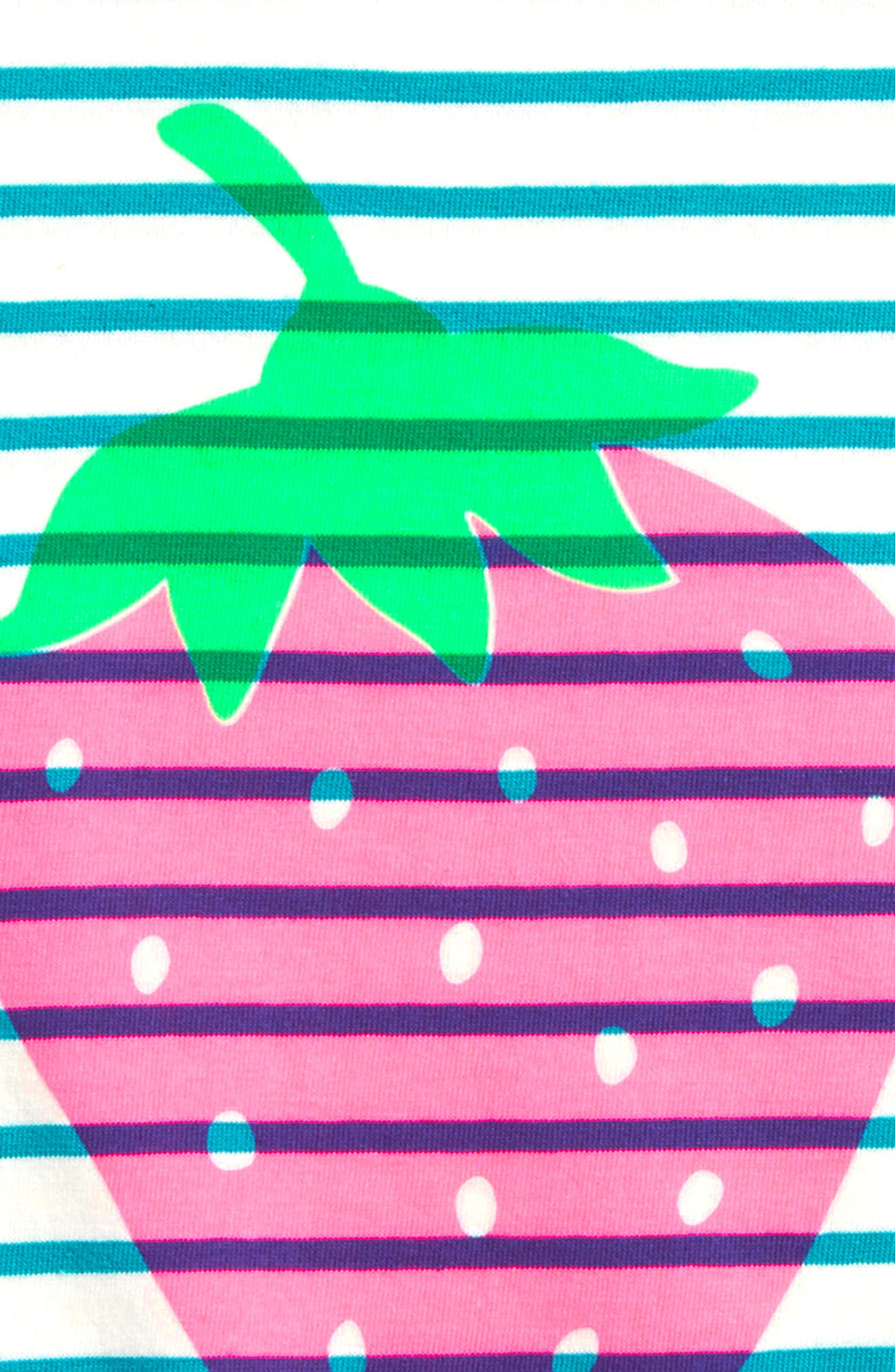 Bright Strawberry Tee,                             Alternate thumbnail 2, color,                             Ivory/ Ultramarine Green Grn
