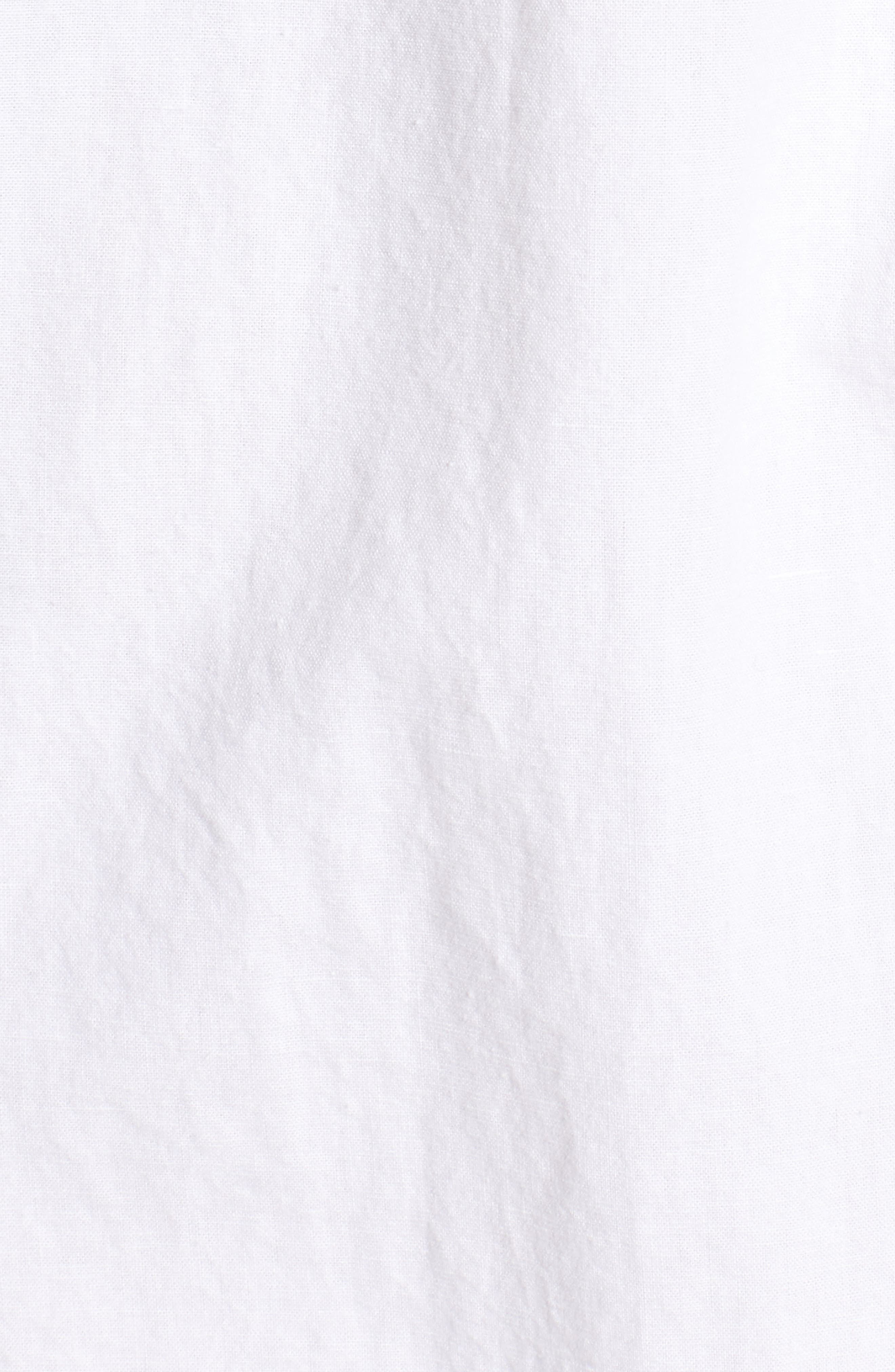 Jennifer Ruffle Babydoll Dress,                             Alternate thumbnail 6, color,                             True White