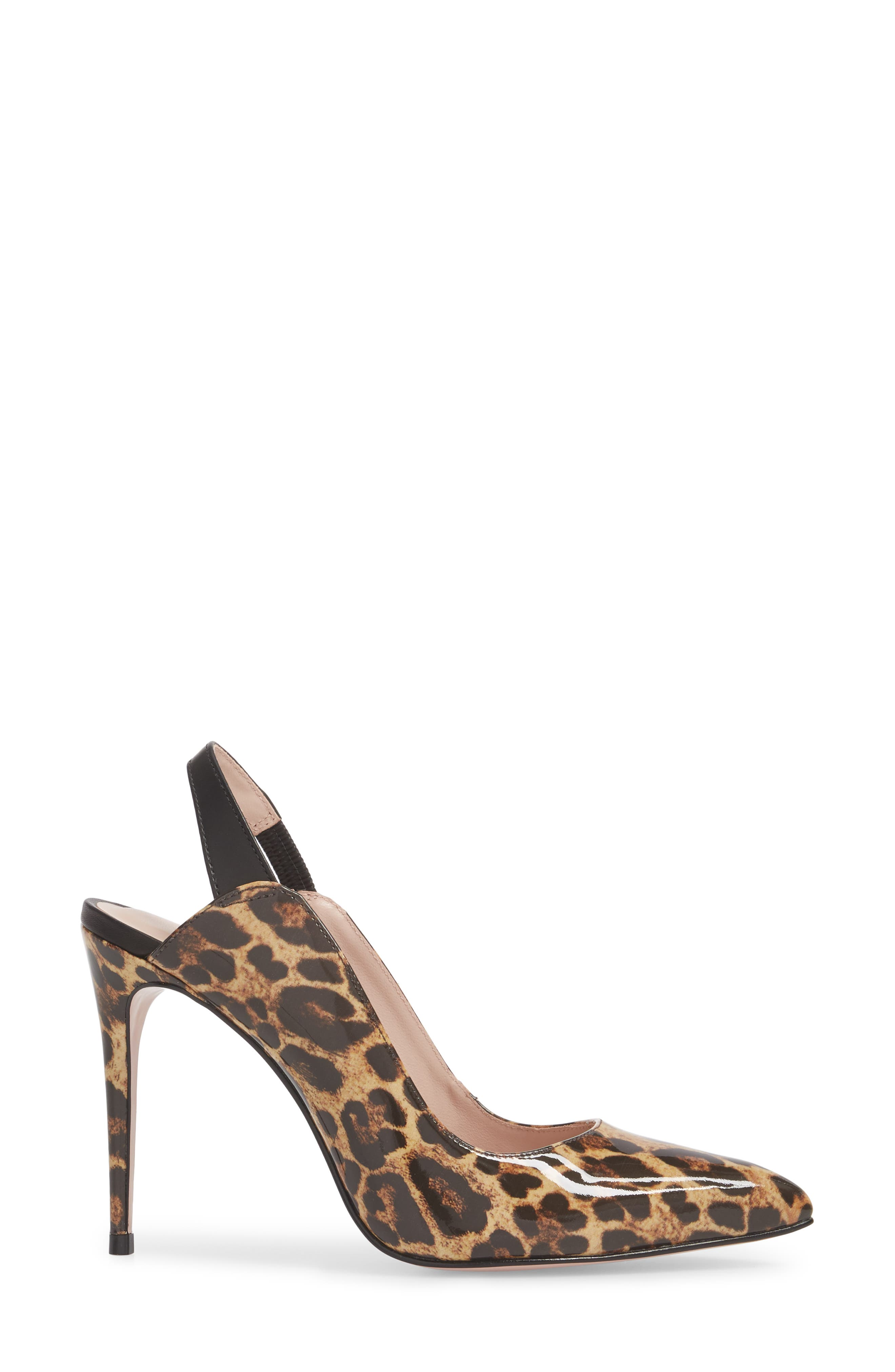 Alice Pointy Toe Pump,                             Alternate thumbnail 3, color,                             Leopard Leather