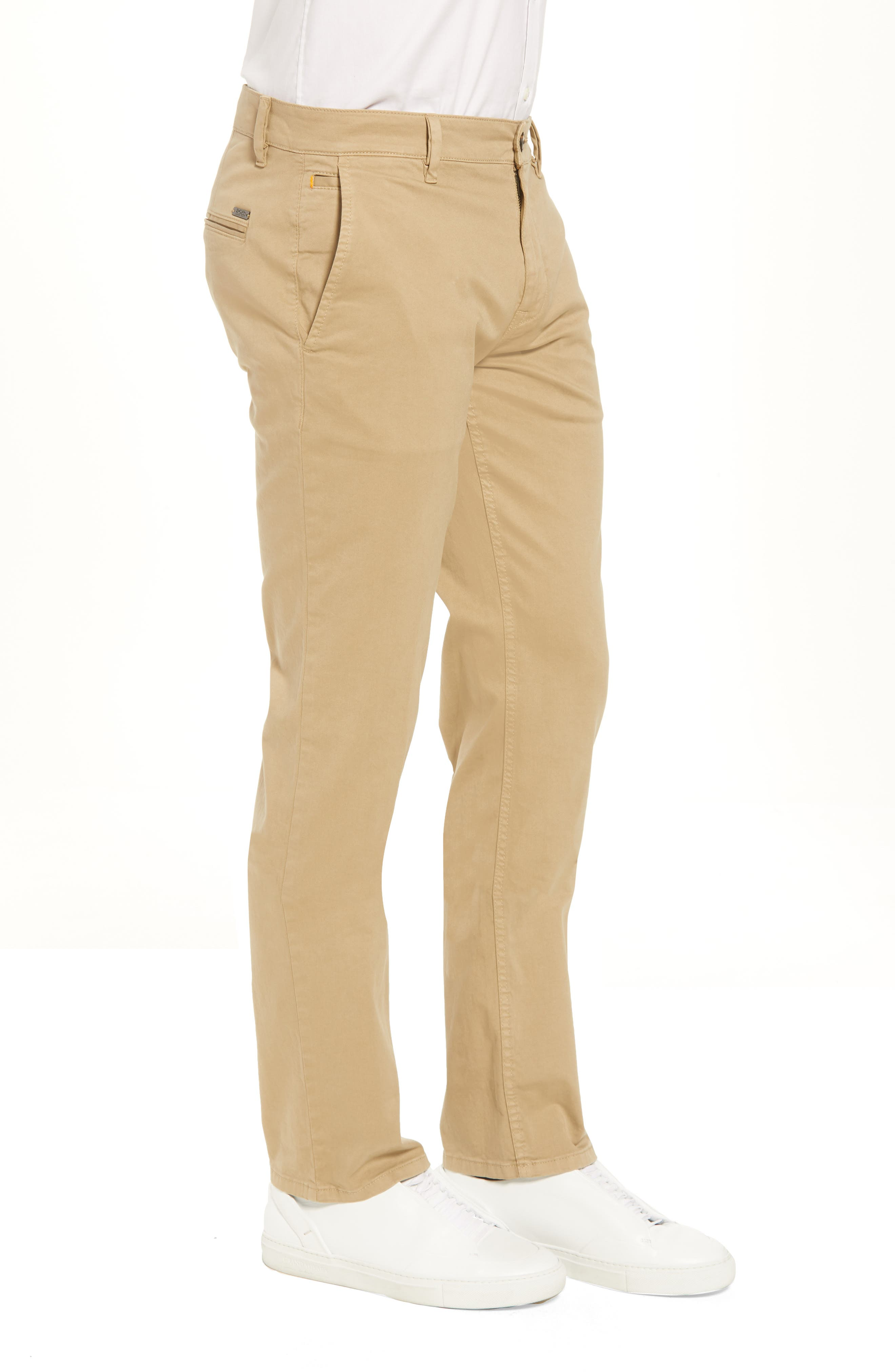 Stretch Chino Pants,                             Alternate thumbnail 3, color,                             Brown
