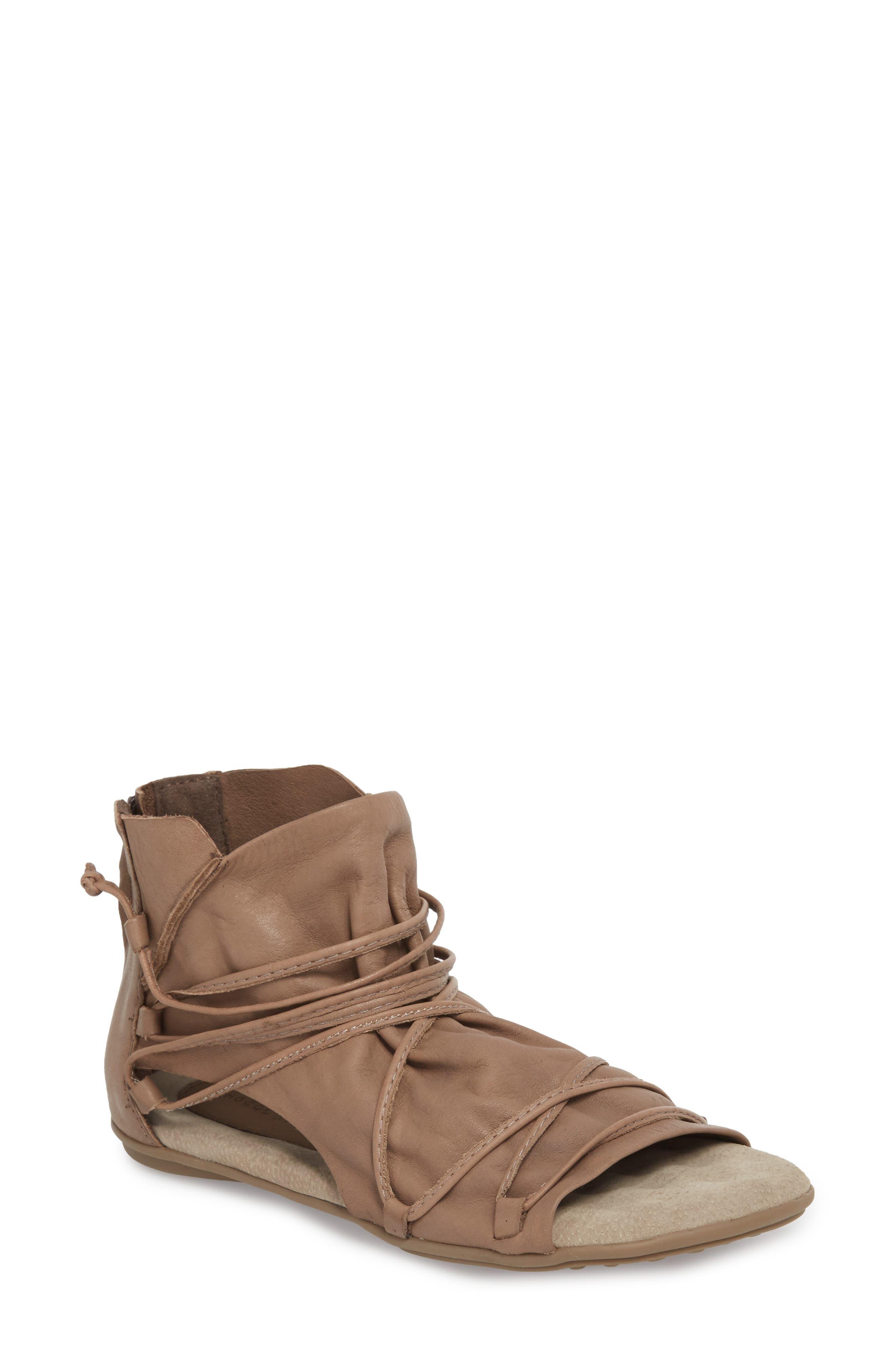 Byron Flat,                         Main,                         color, Khaki Leather
