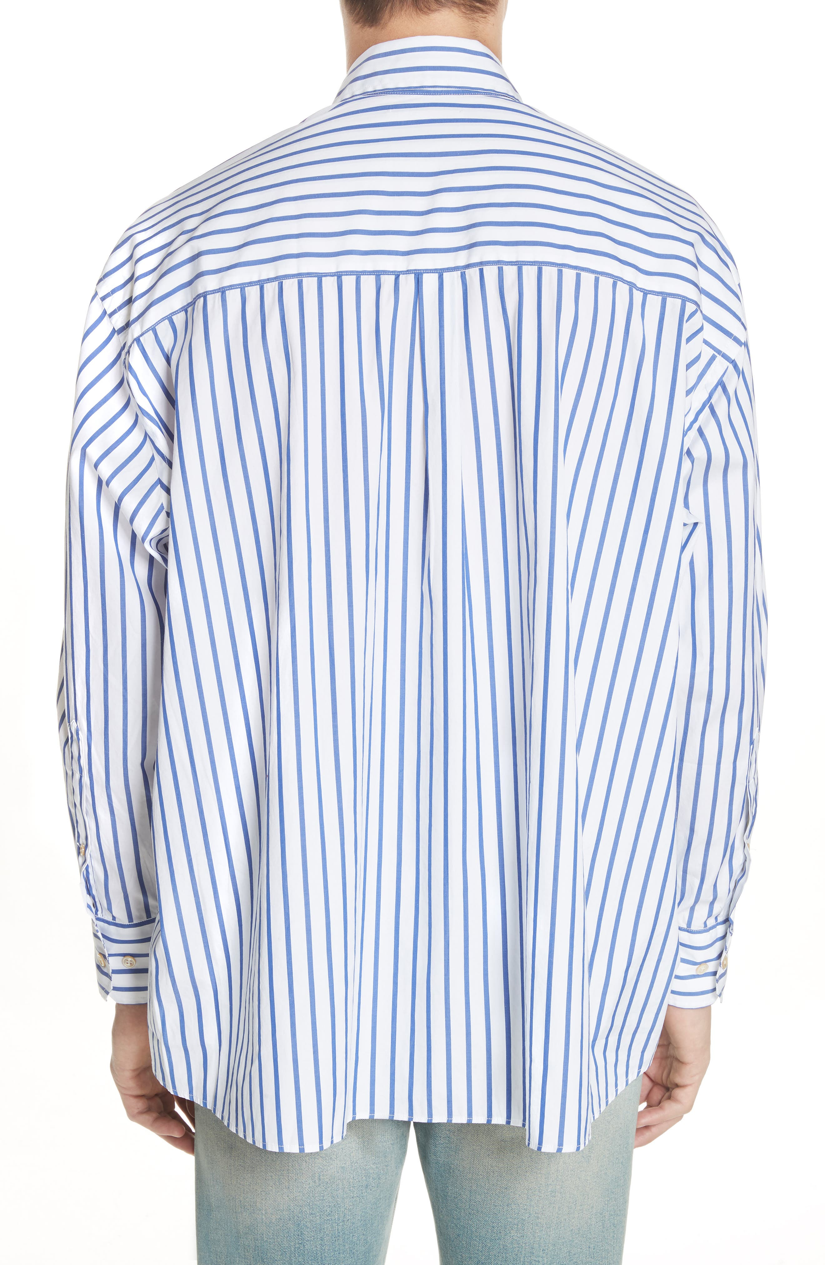 Alternate Image 3  - OUR LEGACY Oversize Stripe Woven Shirt