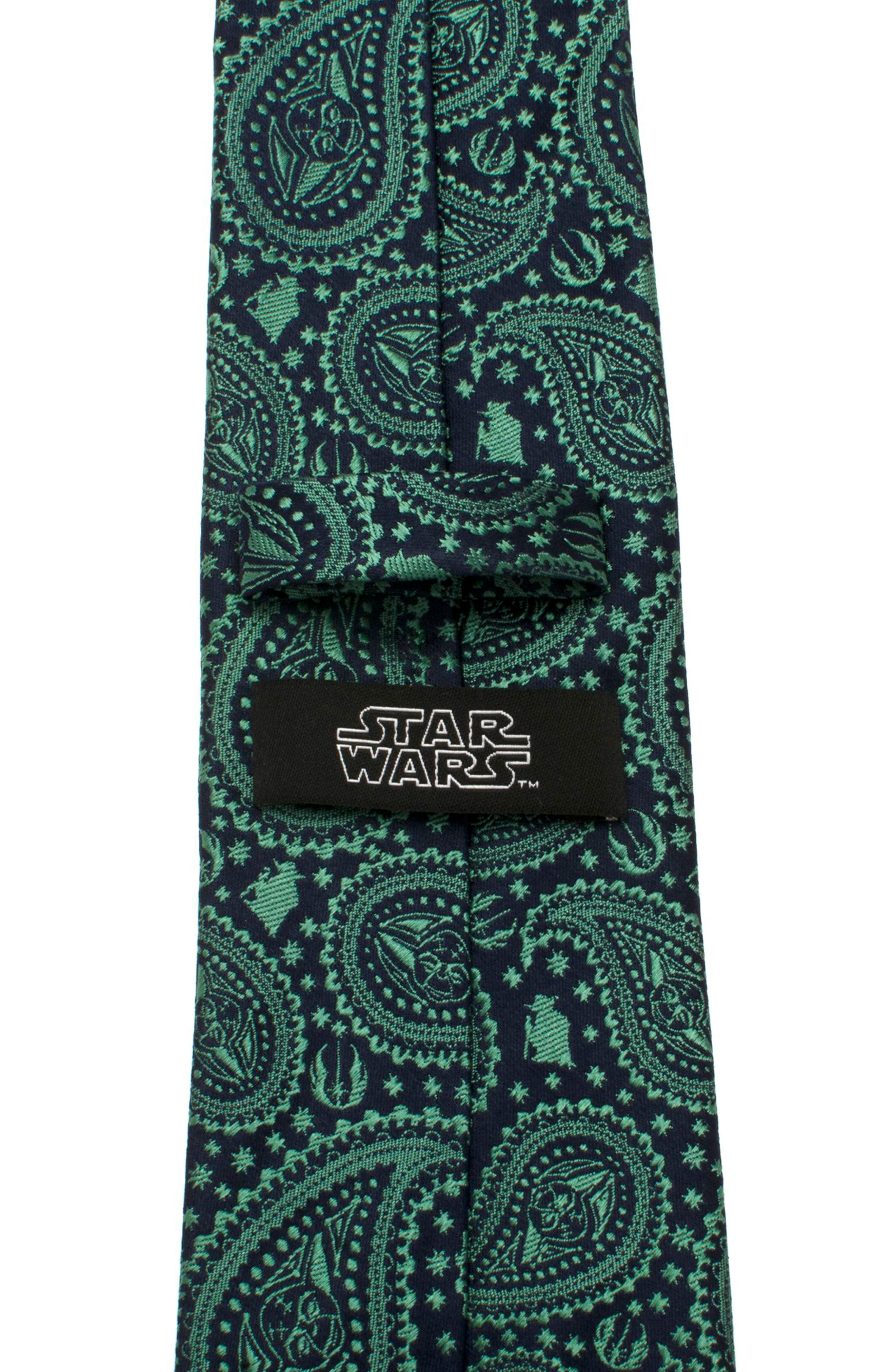 Yoda Paisley Silk Tie,                             Alternate thumbnail 5, color,                             Green