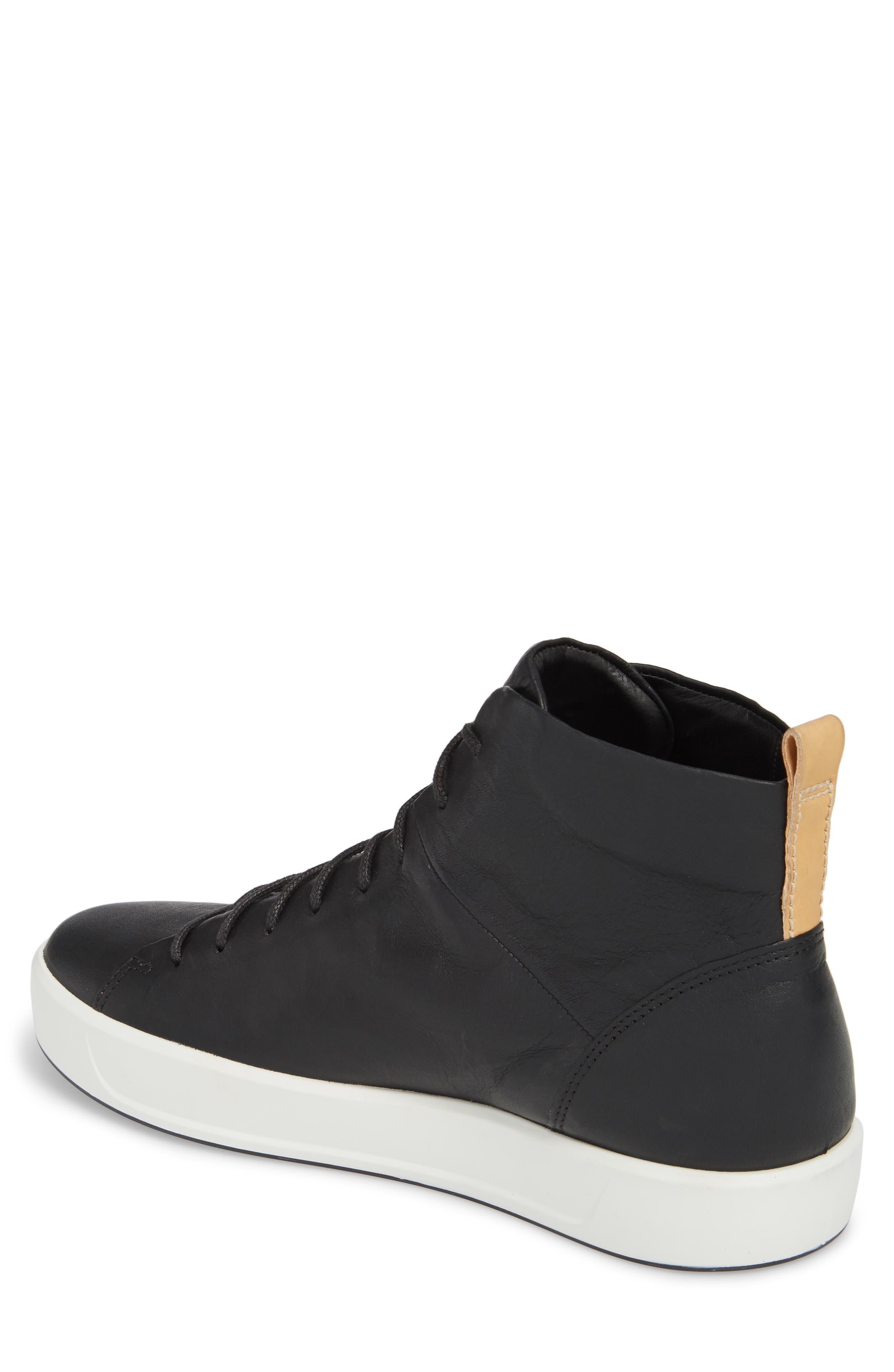 Soft 8 Sneaker,                             Alternate thumbnail 2, color,                             Black/Black Leather