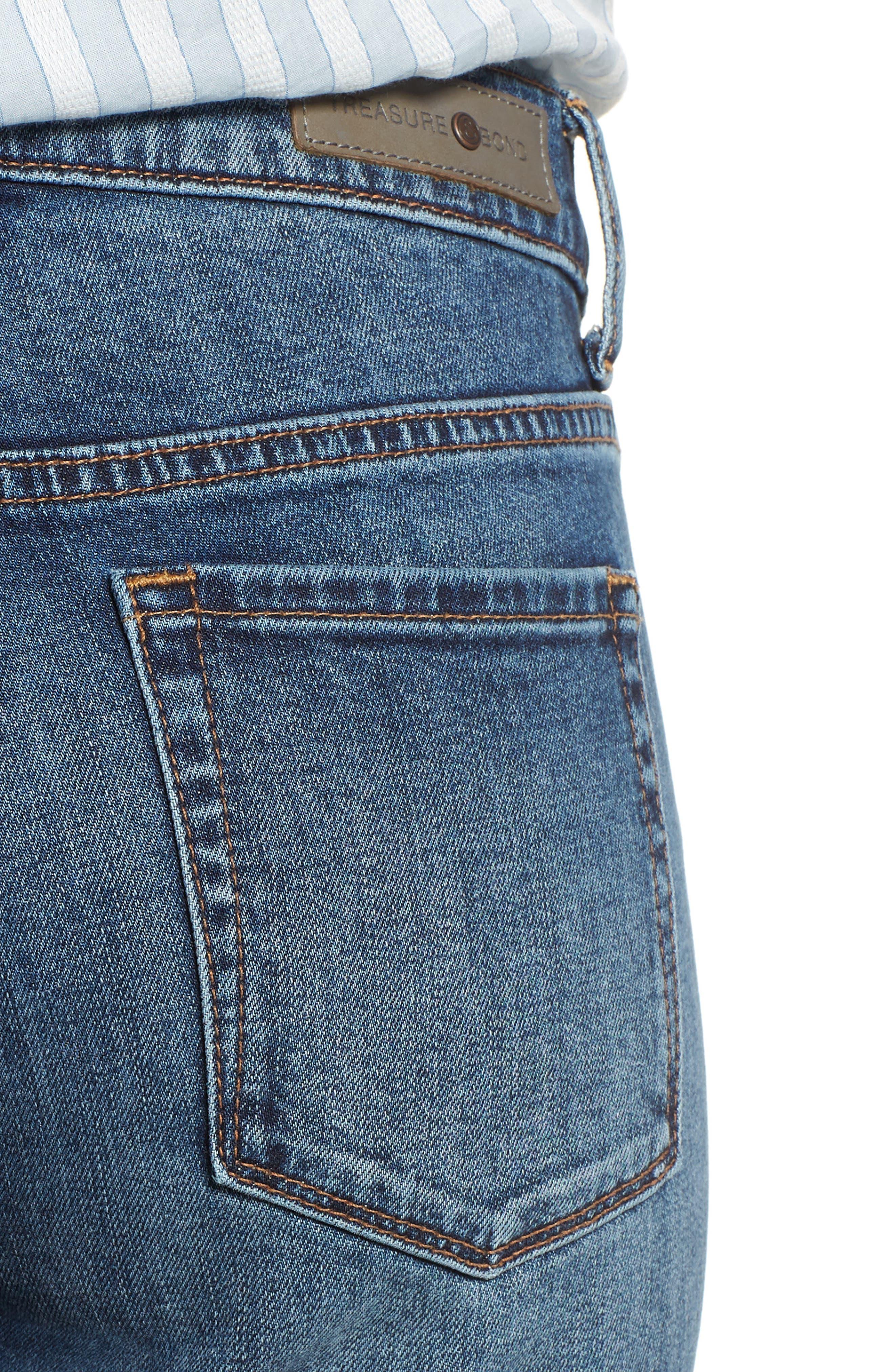 Alternate Image 4  - Treasure & Bond Grant Ankle Boyfriend Jeans (Gravel Dusk Vintage)