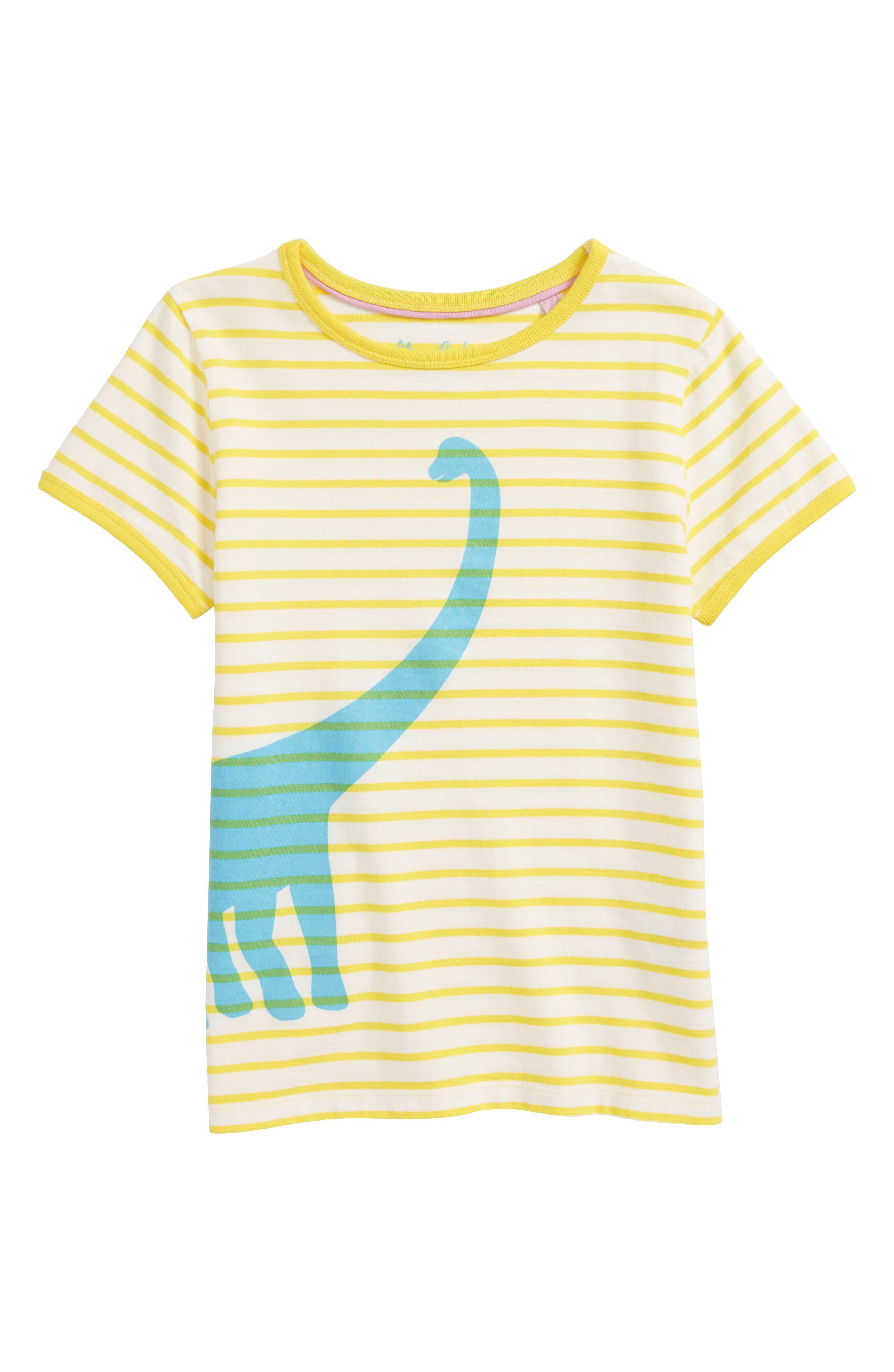 Mini Boden Bright Stripe Tee (Toddler Girls & Little Girls)