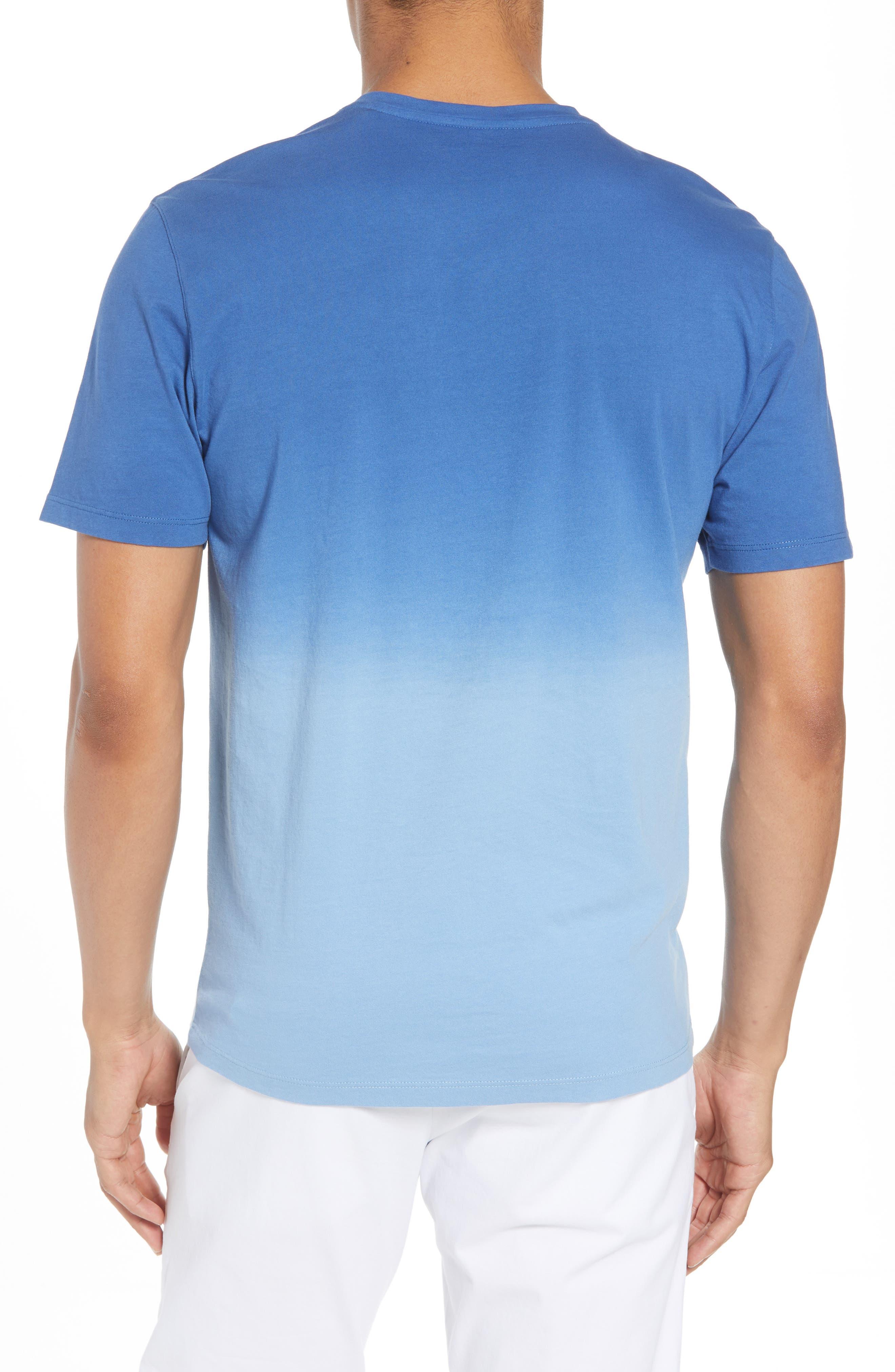 Canton Dip Dye V-Neck T-Shirt,                             Alternate thumbnail 2, color,                             Blue