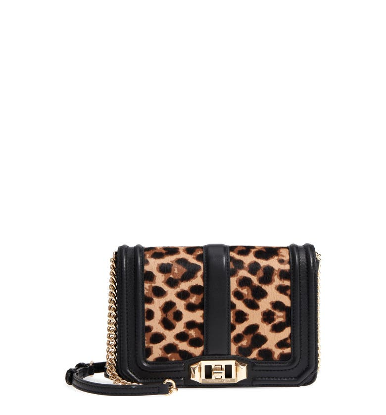 Small Love Genuine Calf Hair Crossbody Bag, Main, color, Leopard