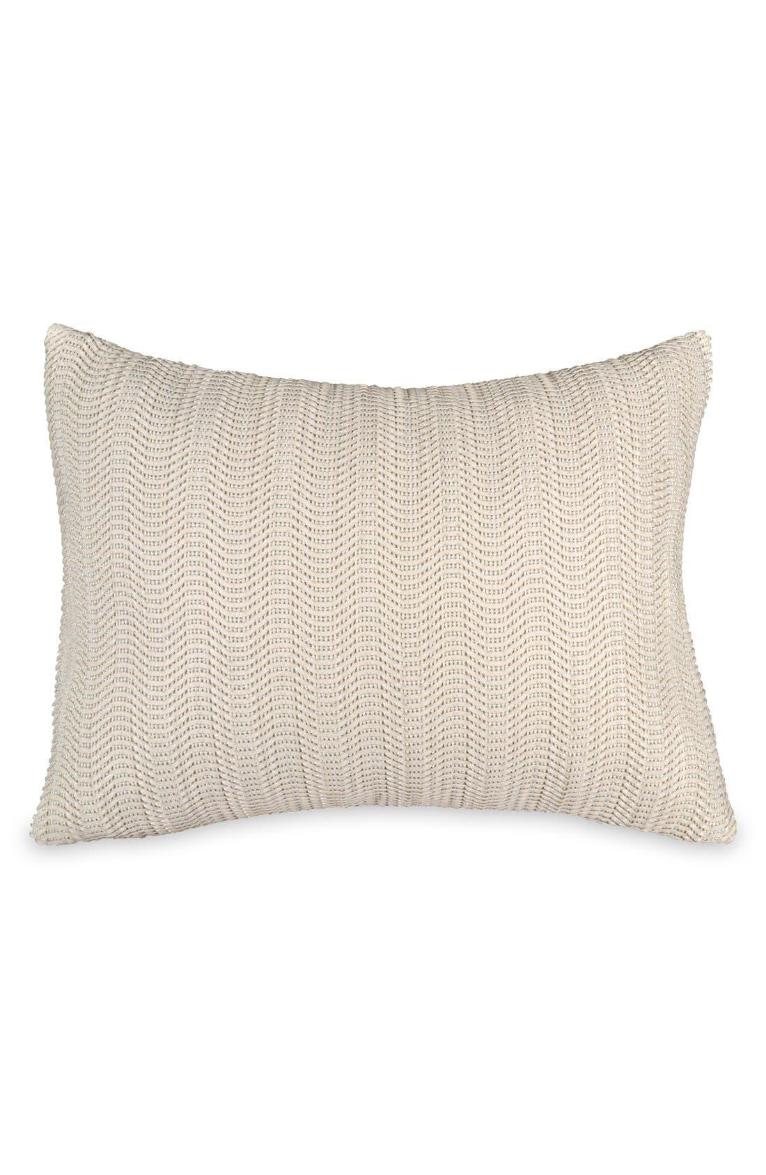 Donna Karan Collection 'Moonscape' Woven Pillow,                             Main thumbnail 1, color,                             Ivory